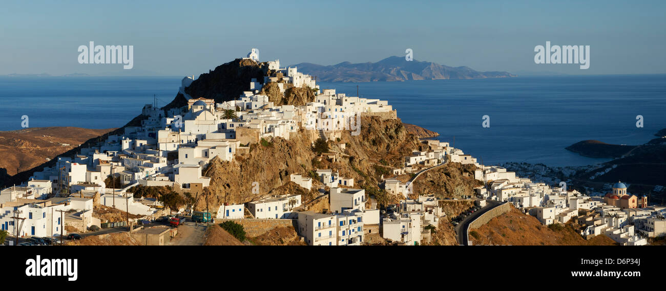 Hora, the main town on Serifos on a rocky spur, Serifos Island, Cyclades, Greek Islands, Greece, Europe - Stock Image