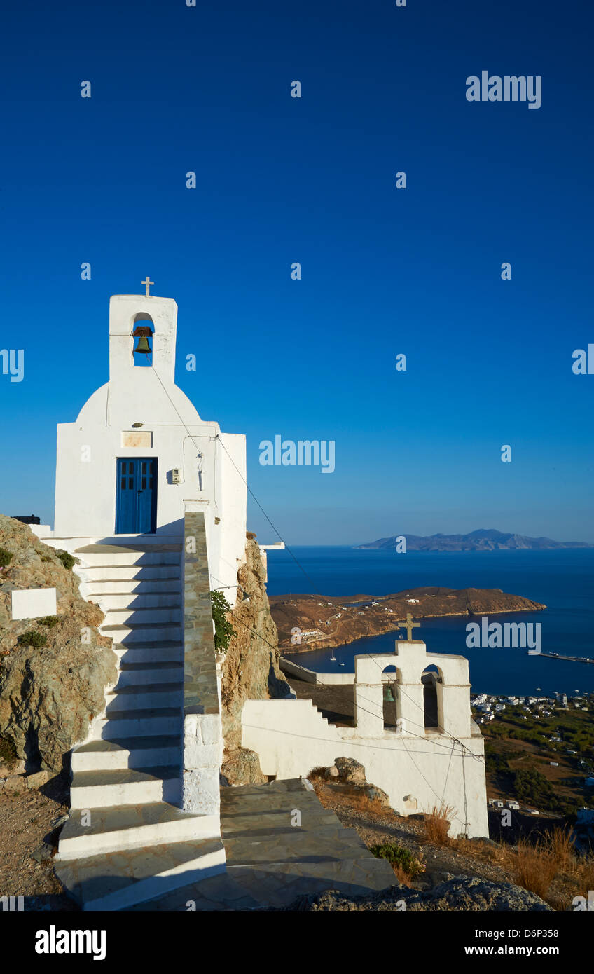 Agios Constantinos church, Hora, Serifos Island, Cyclades, Greek Islands, Greece, Europe - Stock Image