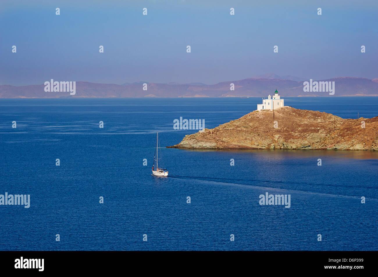 Agios Nikolaos, Korissia Bay, Kea Island, Cyclades, Greek Islands, Greece, Europe - Stock Image