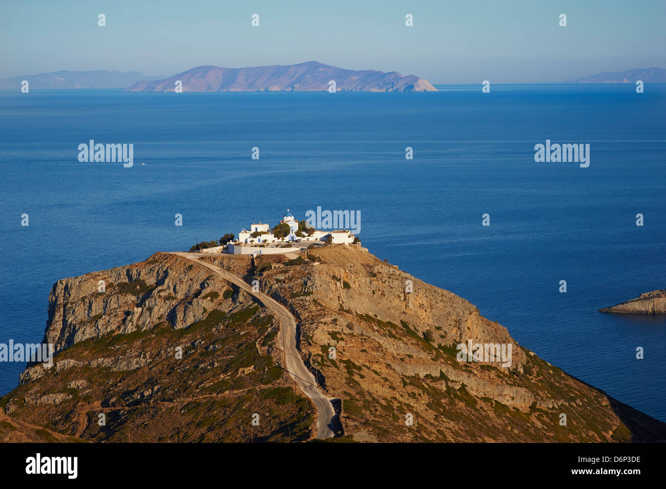 Agios Sostis Monastery, Kea Island, Cyclades, Greek Islands, Greece, Europe - Stock Image