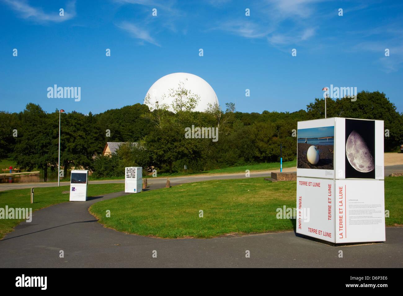 Parc of Radome, Planetarium of Brittany, Cite des Telecoms, Pleumeur Bodou, Cotes d'Armor, Brittany, France, - Stock Image