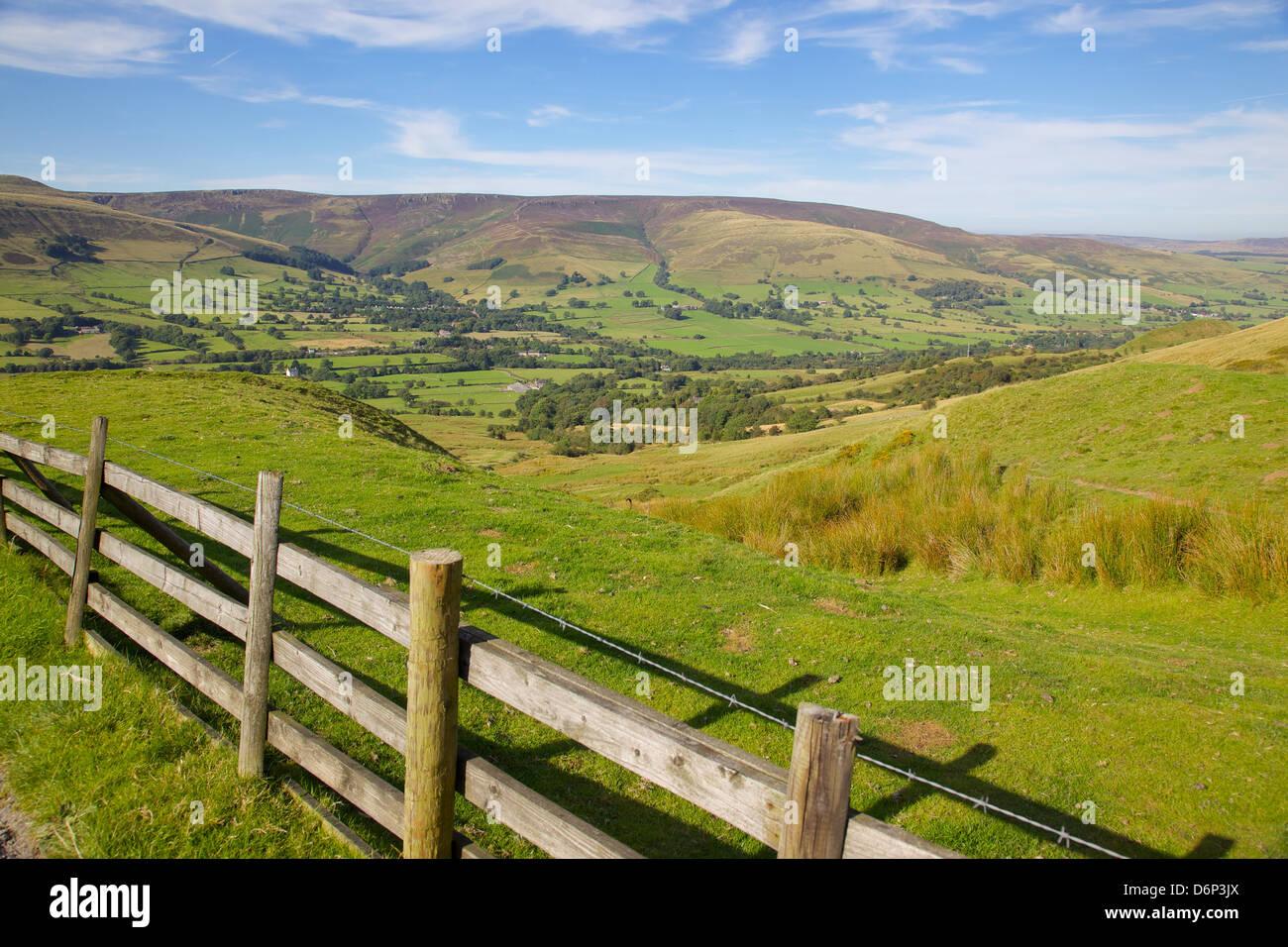 Vale of Edale, Peak District National Park, Derbyshire, England, United Kingdom, Europe - Stock Image