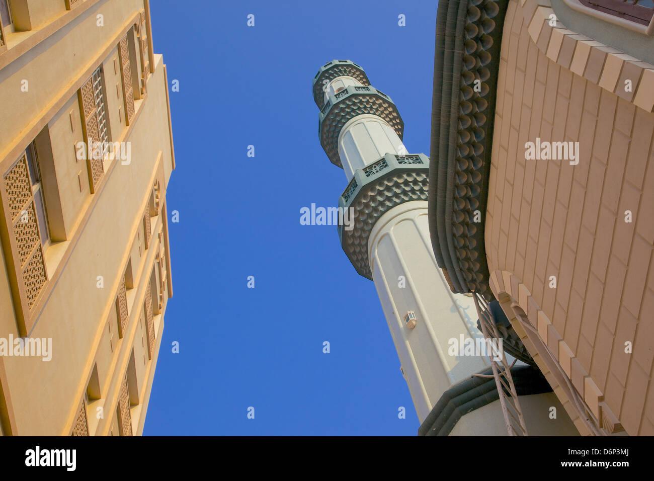 Mosque near The Deira Souk, The Creek, Dubai, United Arab Emirates, Middle East - Stock Image