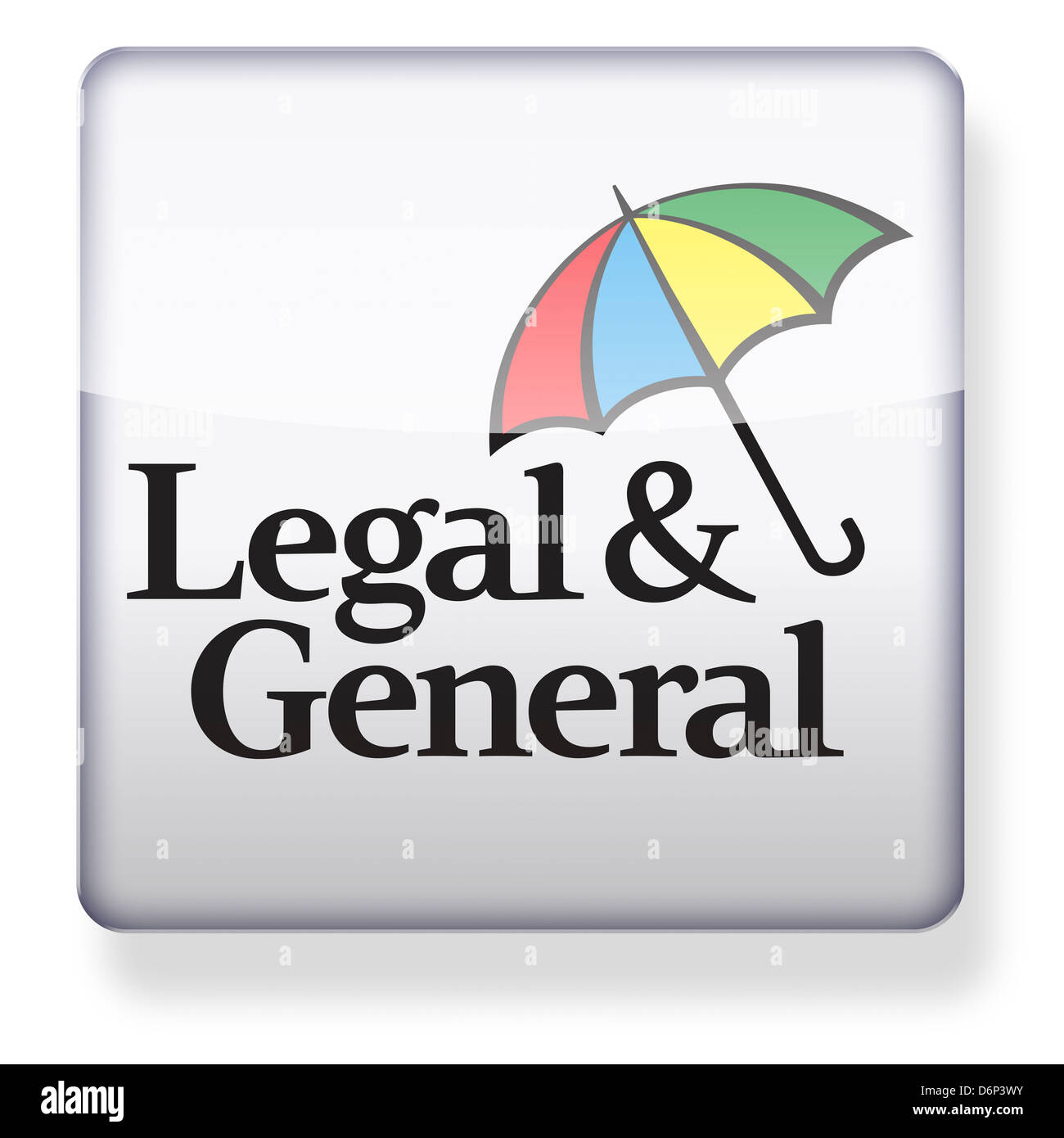 Legal and General logo as an app icon. Clipping path included. - Stock Image