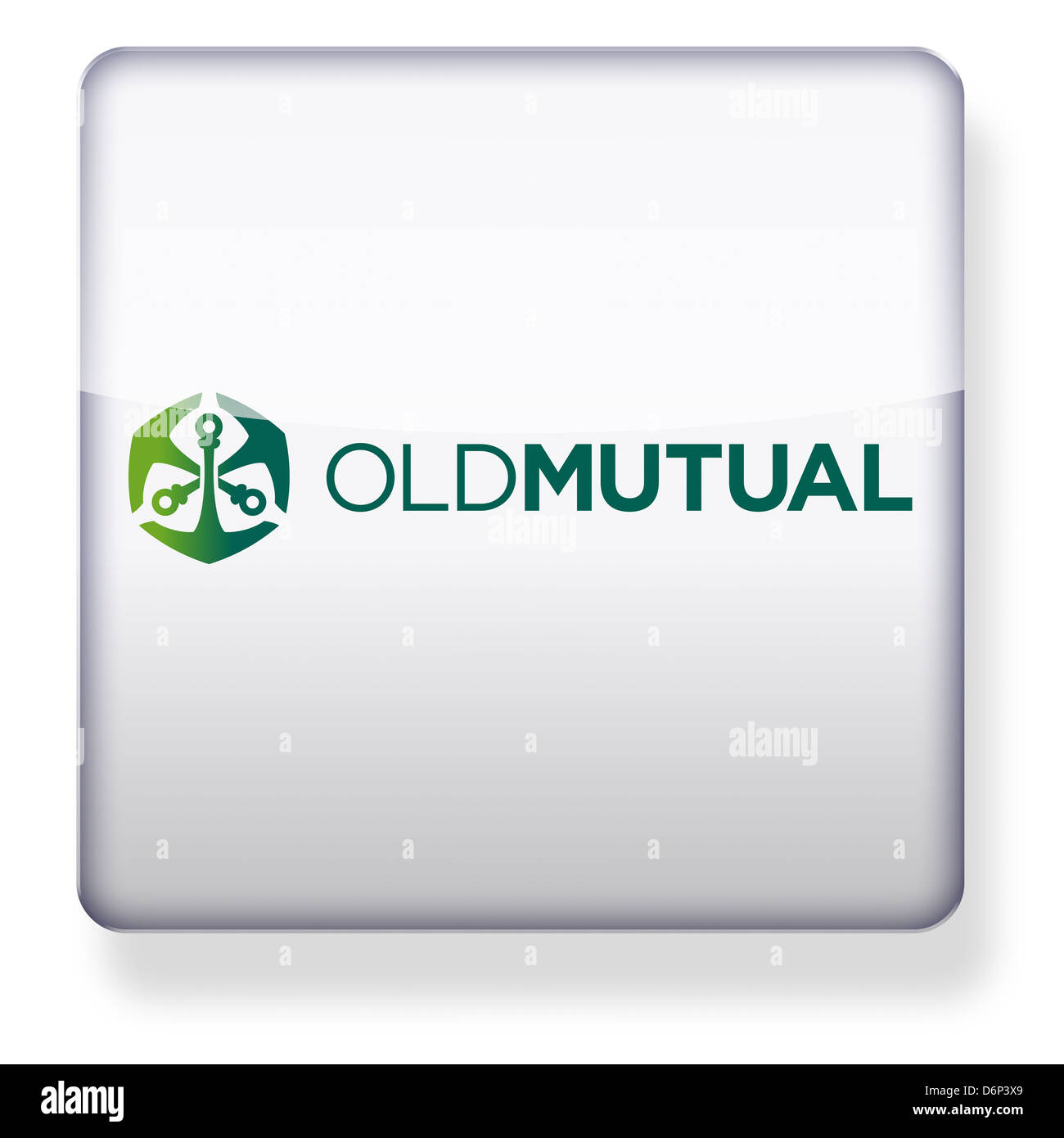 Old Mutual Insurance logo as an app icon. Clipping path included. - Stock Image