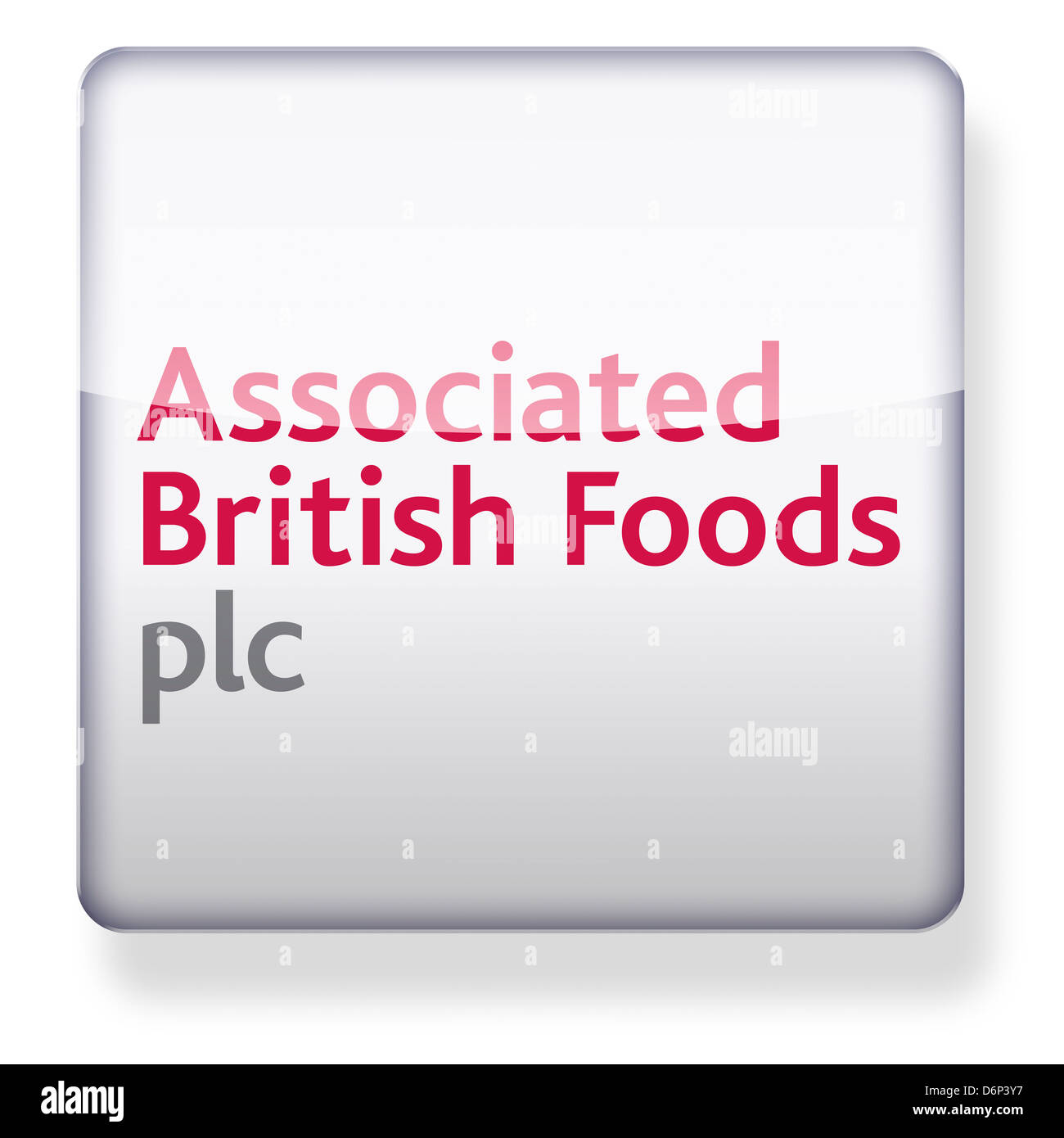 Associated British Foods logo as an app icon. Clipping path included. - Stock Image