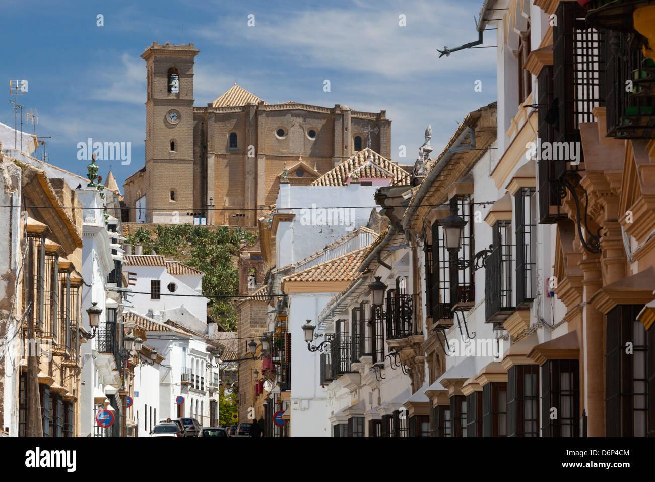 Renaissance houses and 16th century La Colegiata, Osuna, Andalucia, Spain, Europe - Stock Image