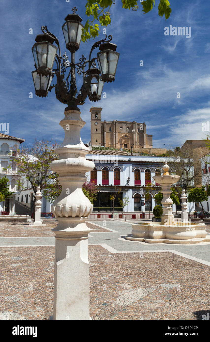 Plaza Mayor and La Colegiata, Osuna, Andalucia, Spain, Europe - Stock Image