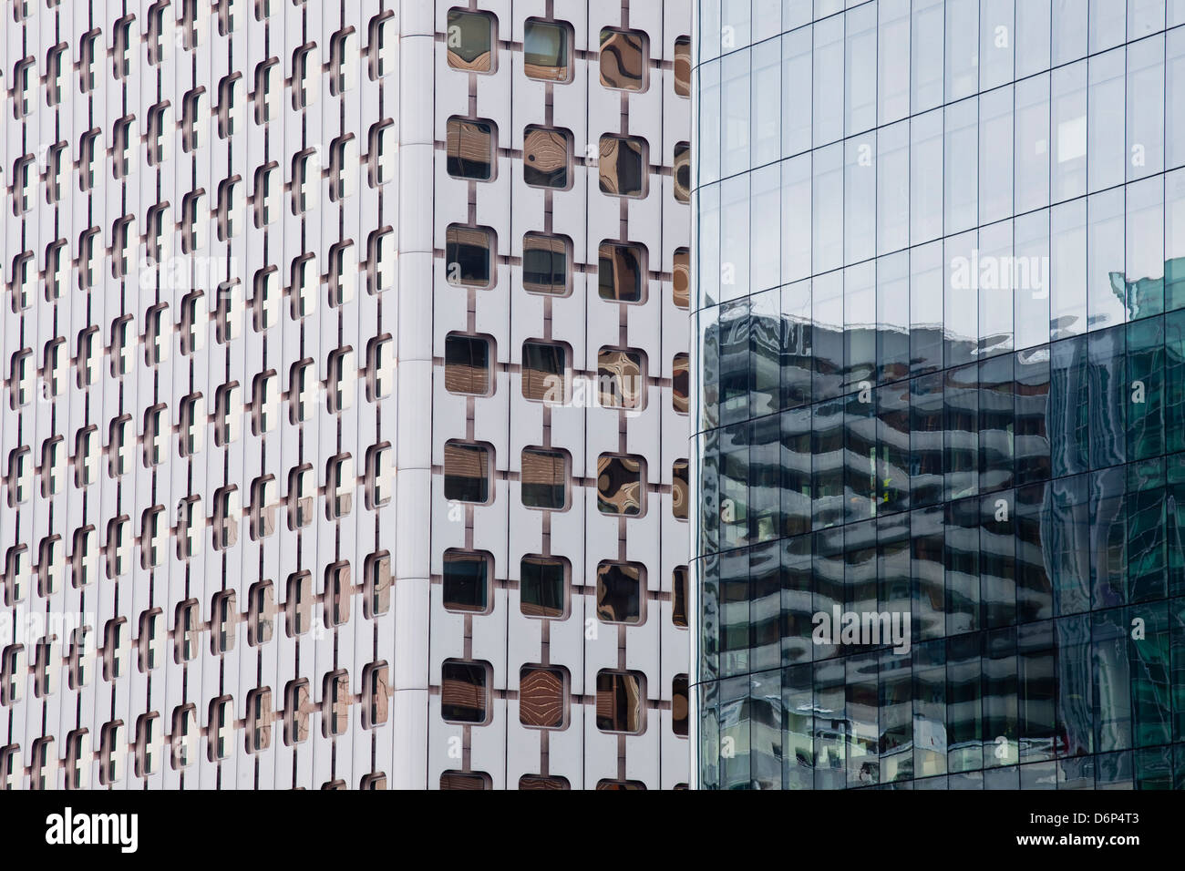 Abstract of buildings in the La Defense district, Paris, France, Europe - Stock Image