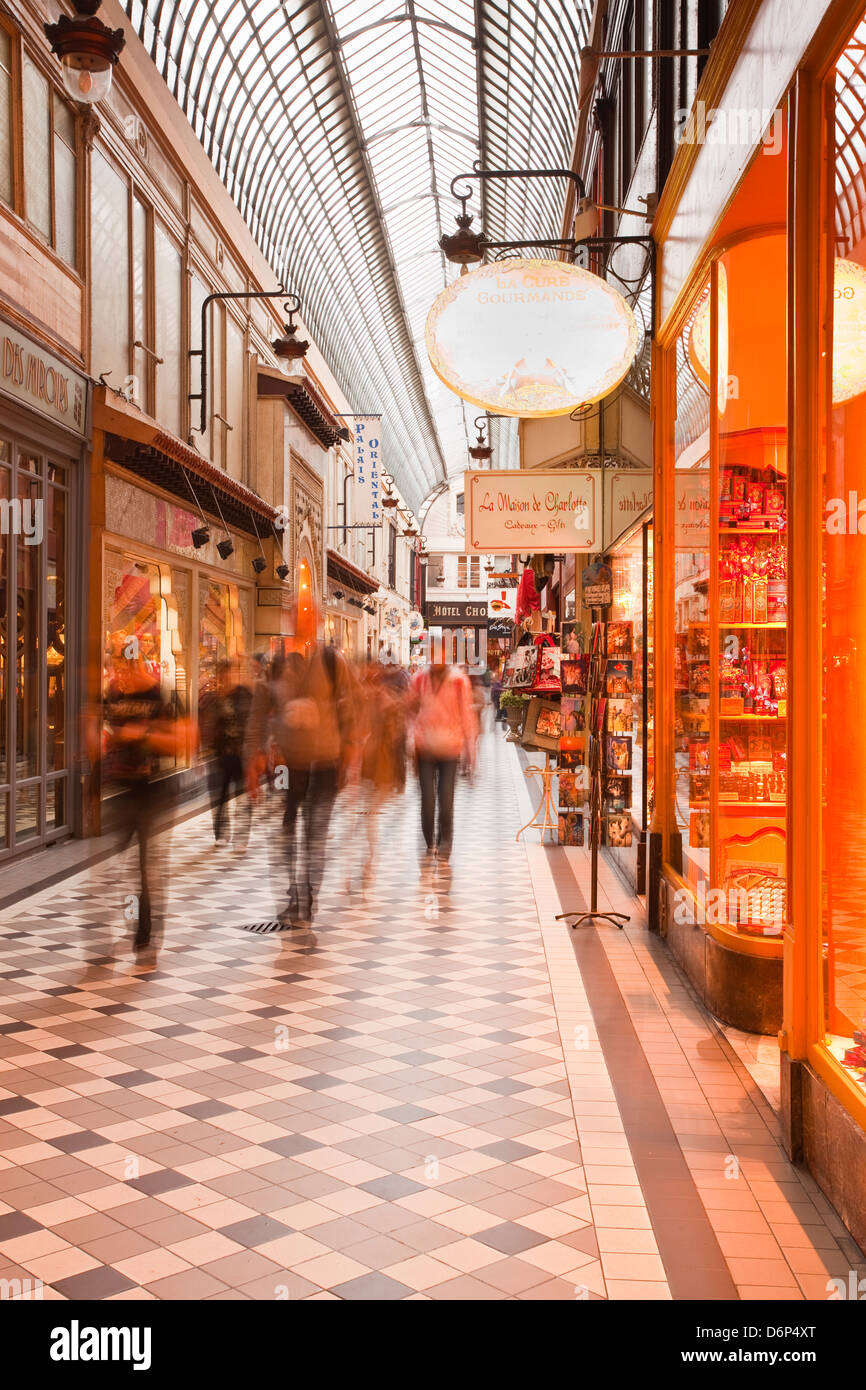 Passage Jouffroy in central Paris, France, Europe - Stock Image