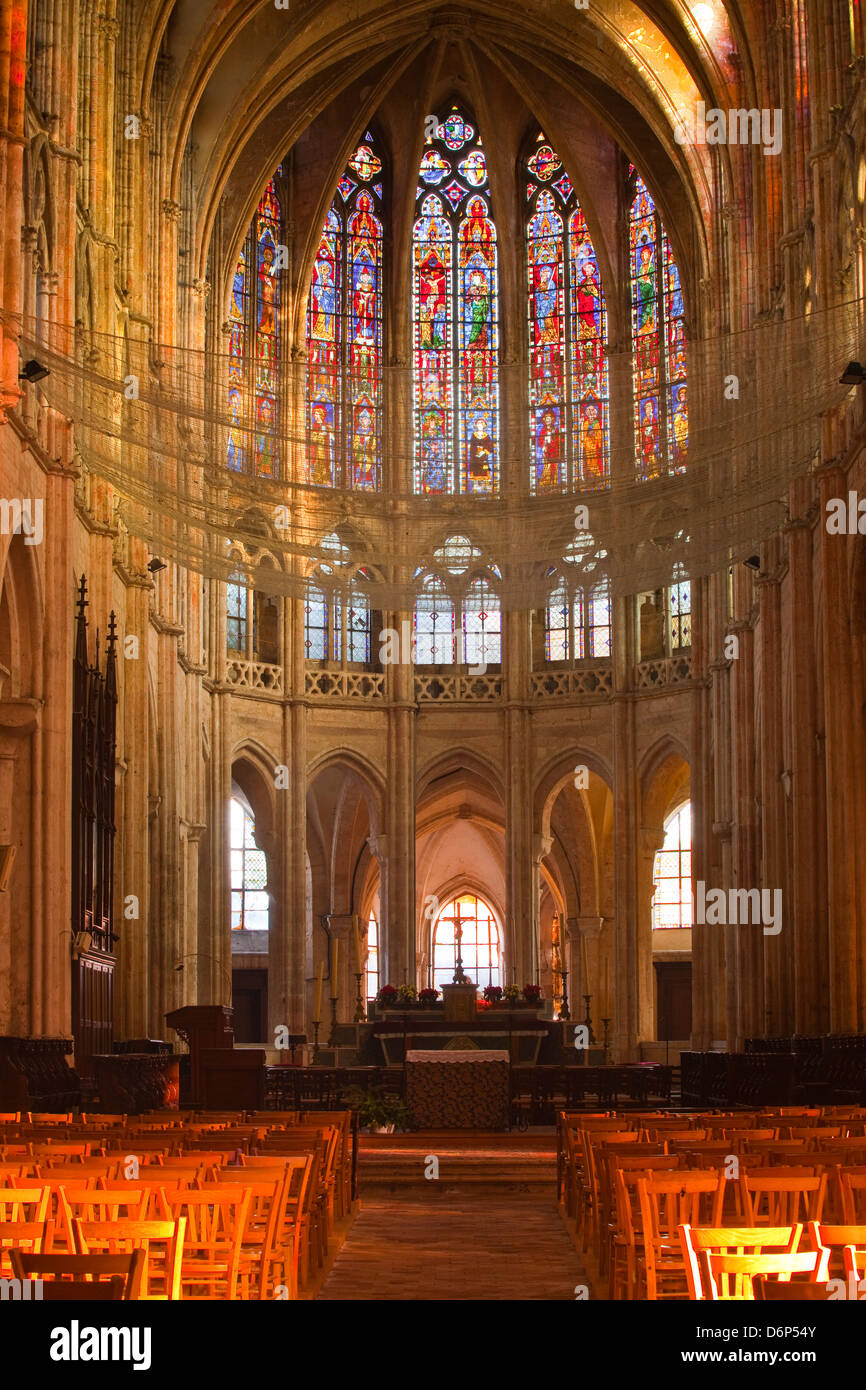The interior of Saint Pierre church in Chartres, Eure-et-Loir, Centre, France, Europe - Stock Image