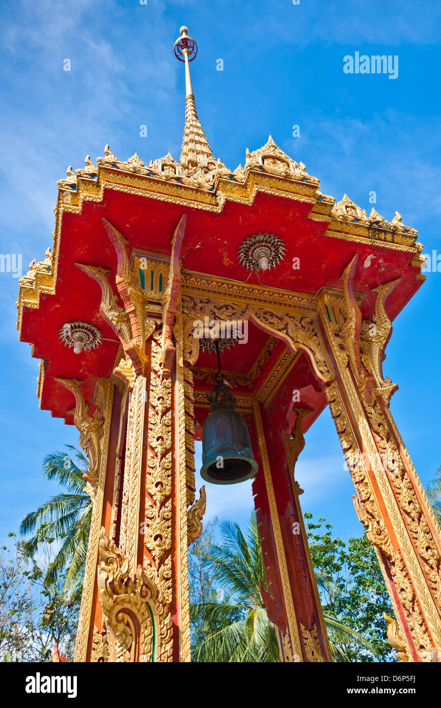 Karon Beach, Buddhist Temple, Phuket Island, Phuket, Thailand, Southeast Asia, Asia - Stock Image