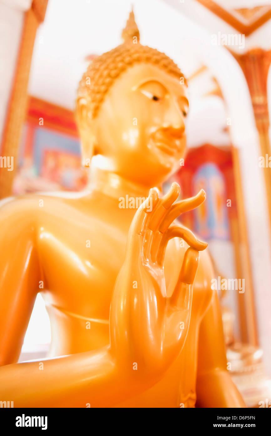 Statue, Karon Beach, Buddhist Temple, Phuket Island, Phuket, Thailand, Southeast Asia, Asia - Stock Image