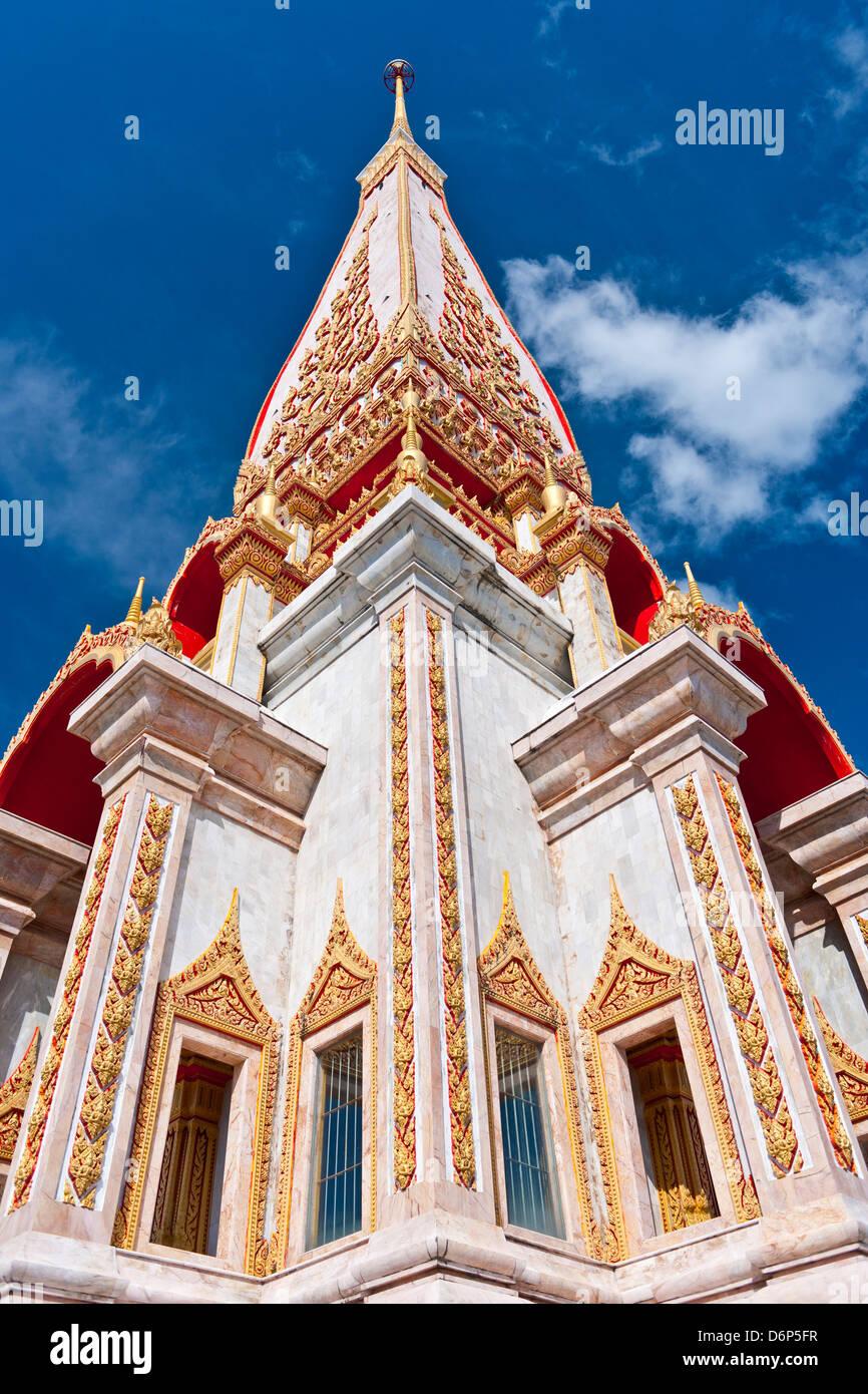Karon Beach, Buddhist Temple, Phuket Island, Phuket, Thailand, Southeast Asia, Asia Stock Photo