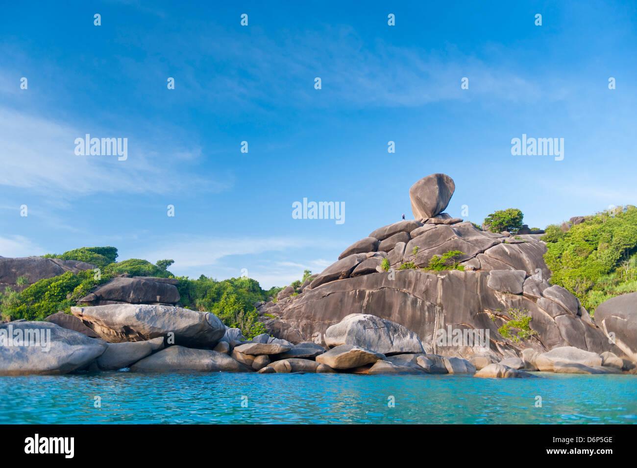 Rock formations of Ko Similan Beach, Phuket Island, Phuket, Thailand, Southeast Asia, Asia - Stock Image