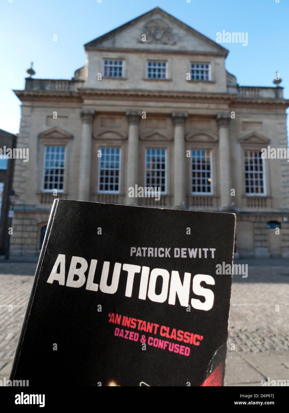 Author Patrick deWitt book and bookcover 'Ablutions'  production by Fellswoop Theatre at the Bristol Old - Stock Image