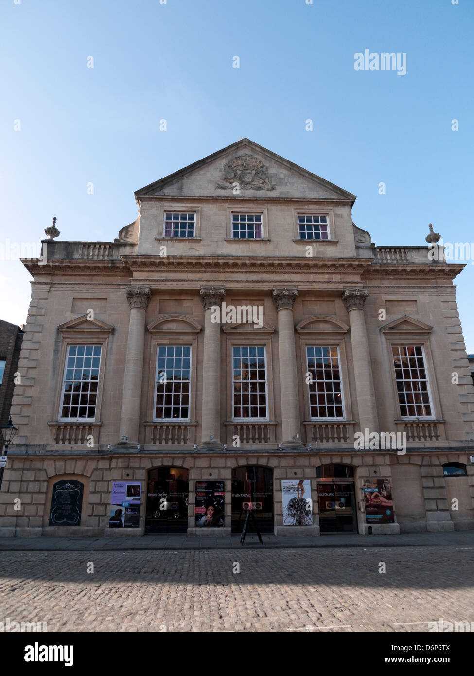 Exterior view of the Theatre Royal Bristol Old Vic facade King Street front of building Bristol England UK  KATHY - Stock Image