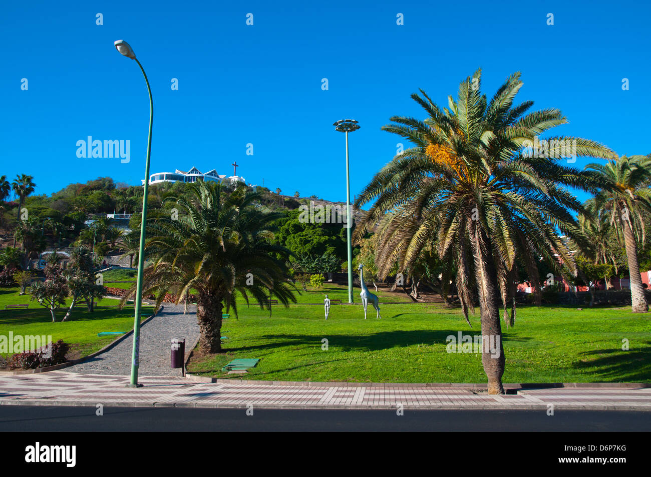 El Ciudad Jardin the Garden district Las Palmas de Gran Canaria city Gran Canaria island the Canary Islands Spain - Stock Image