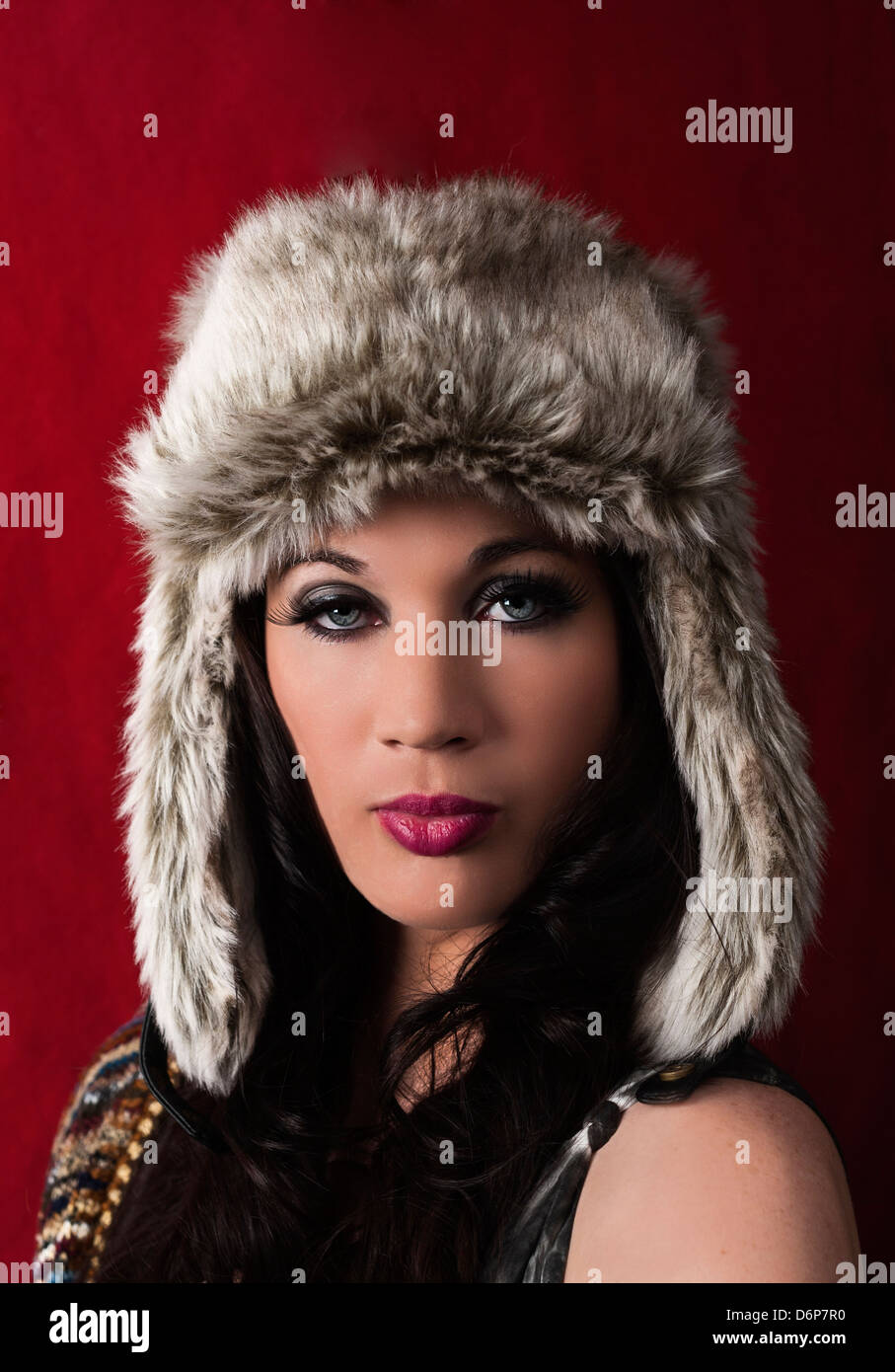 A FASHION MAGAZINE COVER SHOT PROJECT FEATURING A RUSSIAN HAT THEME b288c622356