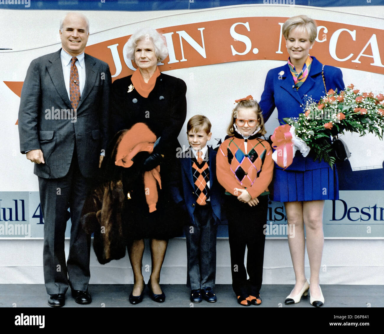 John Mccain Family: Members Of The McCain Family Pose For A Photograph During