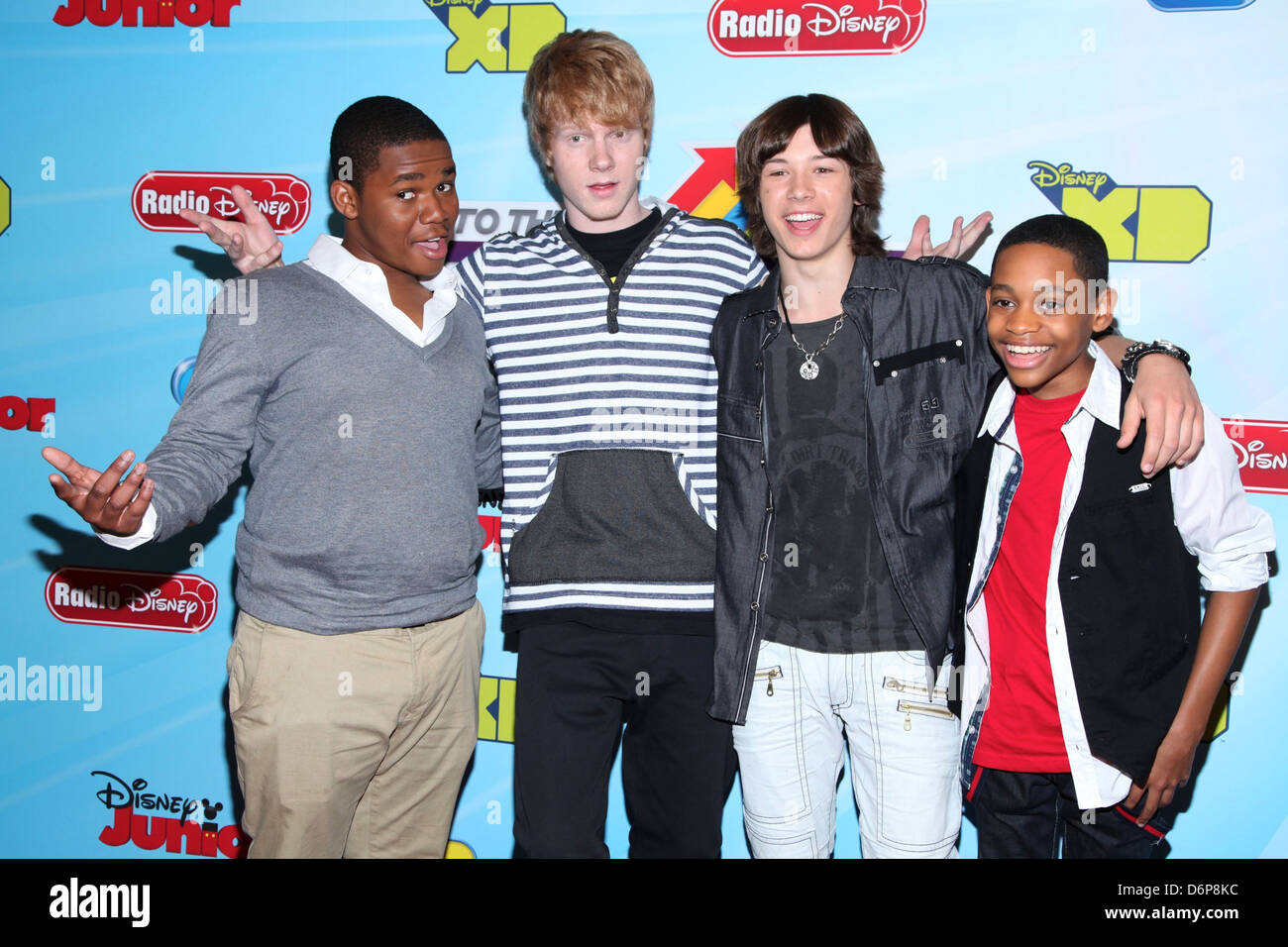 Doc Shaw, Adam Hicks,Leo Howard and Tyler James Williams 2012-13 Disney Channel Worldwide Kids Upfront at the Hard - Stock Image