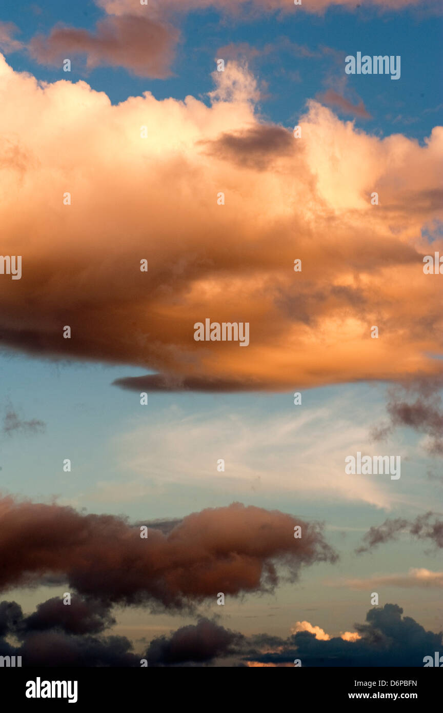 Clouds above Dominica, West Indies, Caribbean, Central America - Stock Image