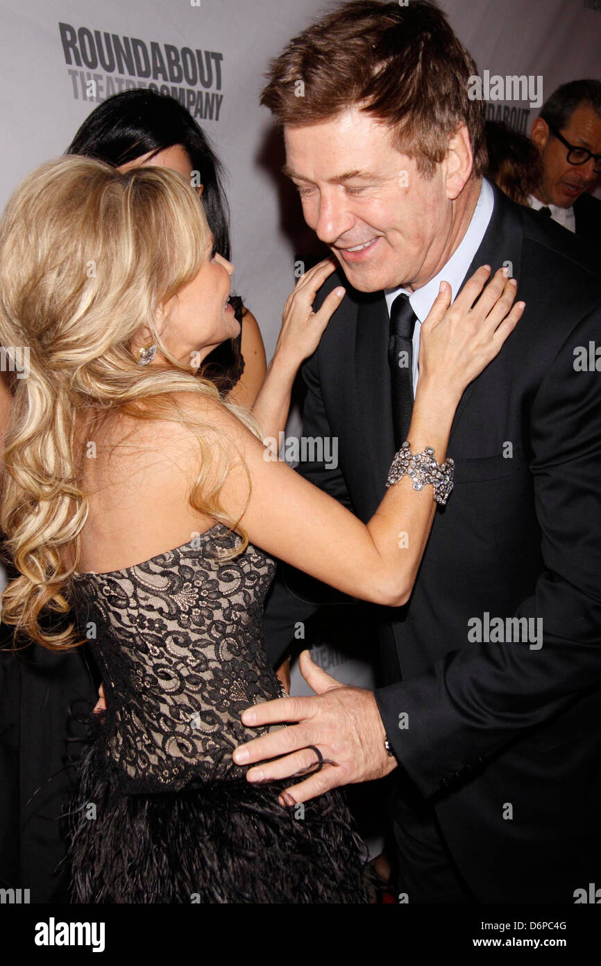 Kristin Chenoweth and Alec Baldwin Roundabout Theatre Company's 2012 Spring Gala, held at the Hammerstein Ballroom Stock Photo