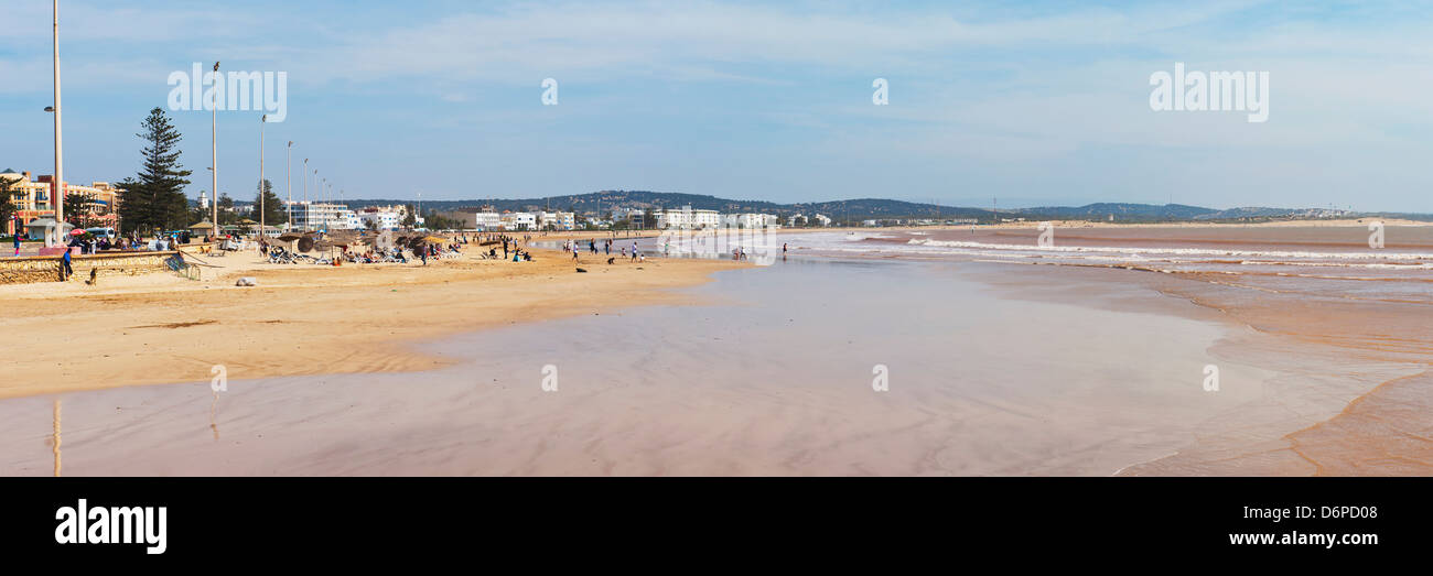 Essaouira beach on the Atlantic coast of Morocco, North Africa, Africa - Stock Image