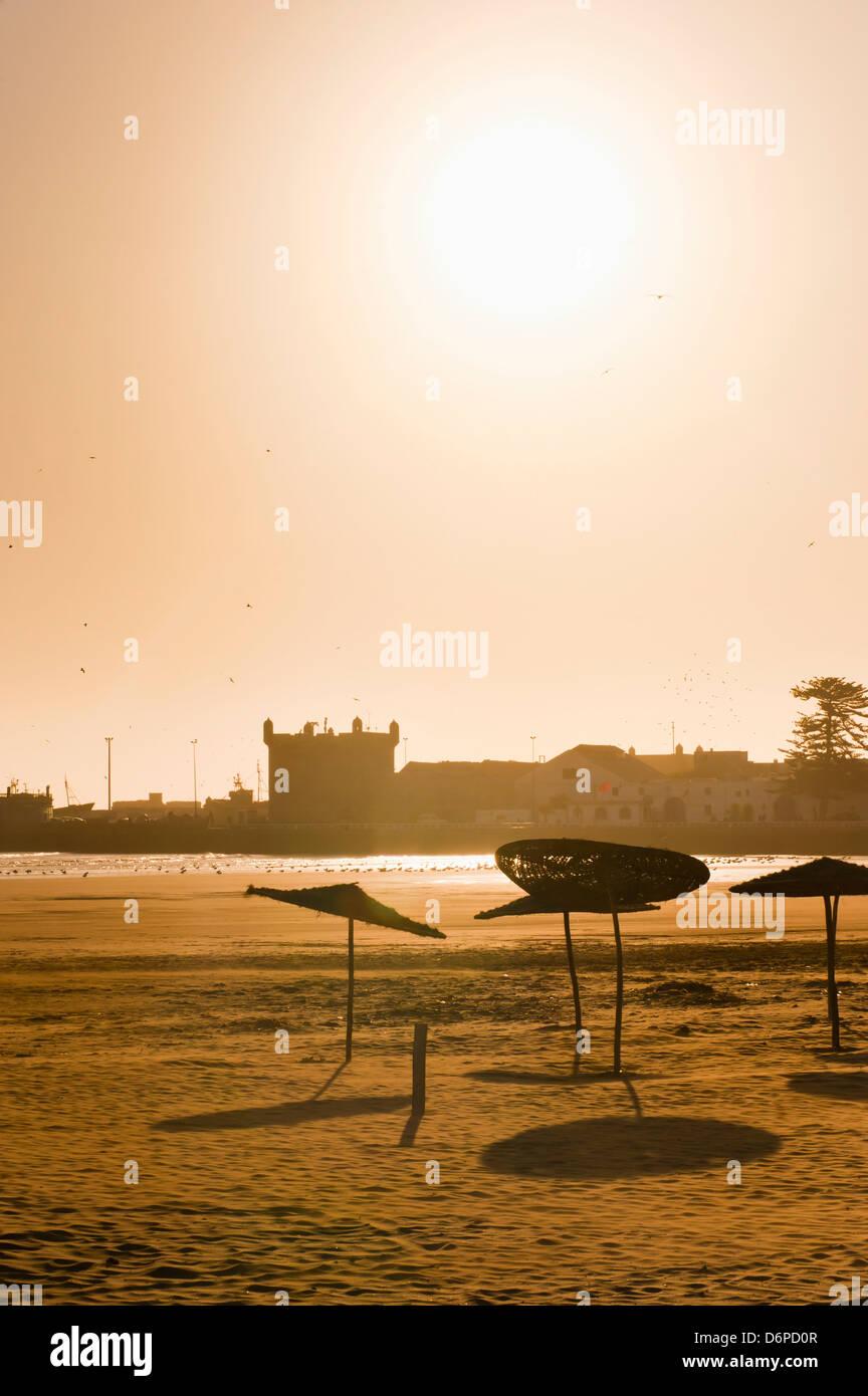 Essaouira Beach, on the Atlantic coast, Morocco, North Africa, Africa - Stock Image
