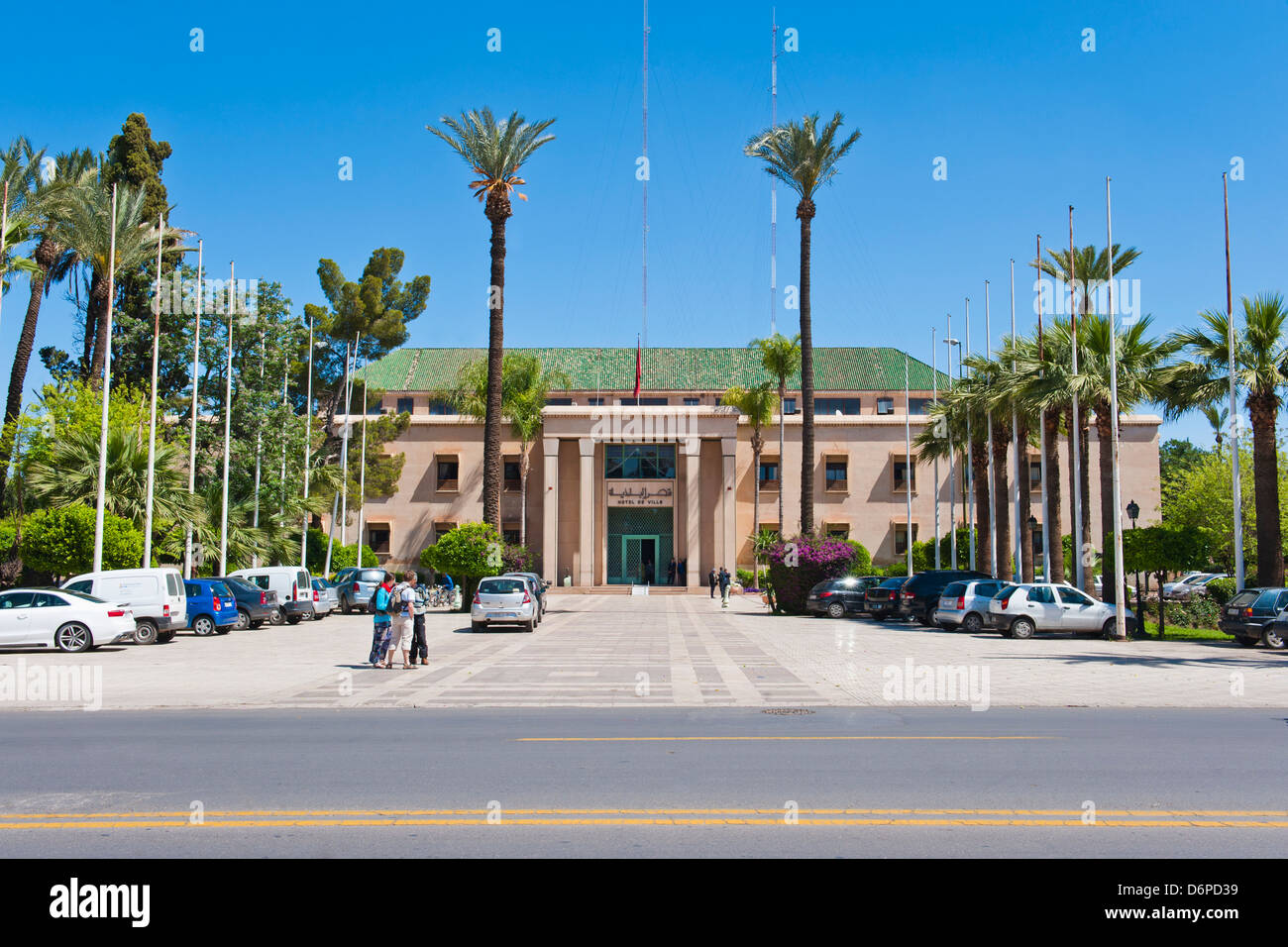 Hotel de Ville, a smart, luxury hotel in Marrakech, Morocco, North Africa, Africa - Stock Image