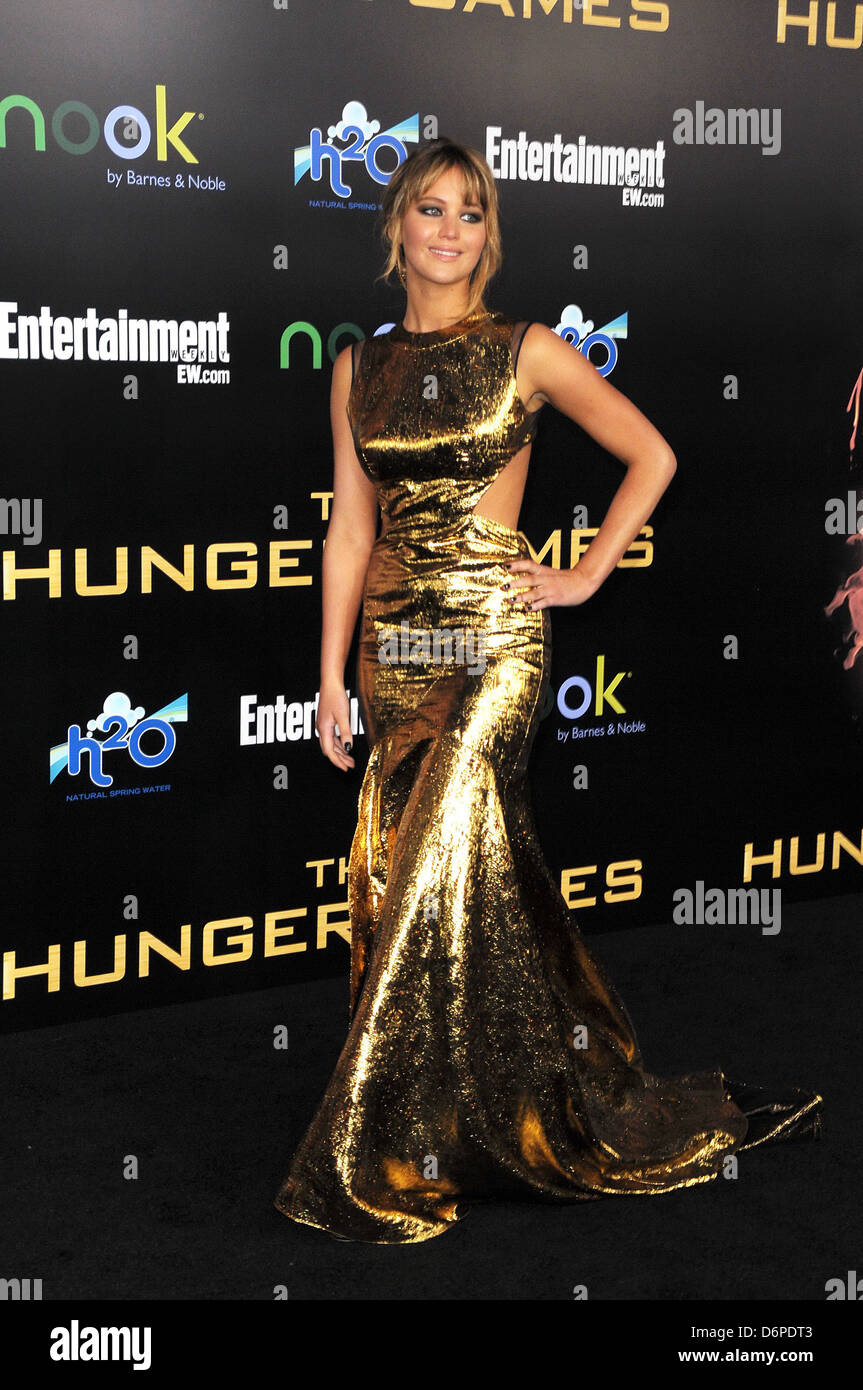 c72f9d82d Jennifer Lawrence World Premiere of  THE HUNGER GAMES  held at Nokia  Theatre L.A. Live - Arrivals Los Angeles