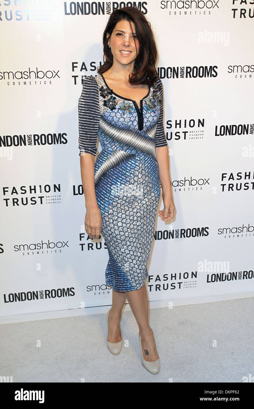 Marisa Tomei British Fashion Council's LONDON Show ROOMS LA Opening Cocktail Party at Smashbox West Hollywood, - Stock Image