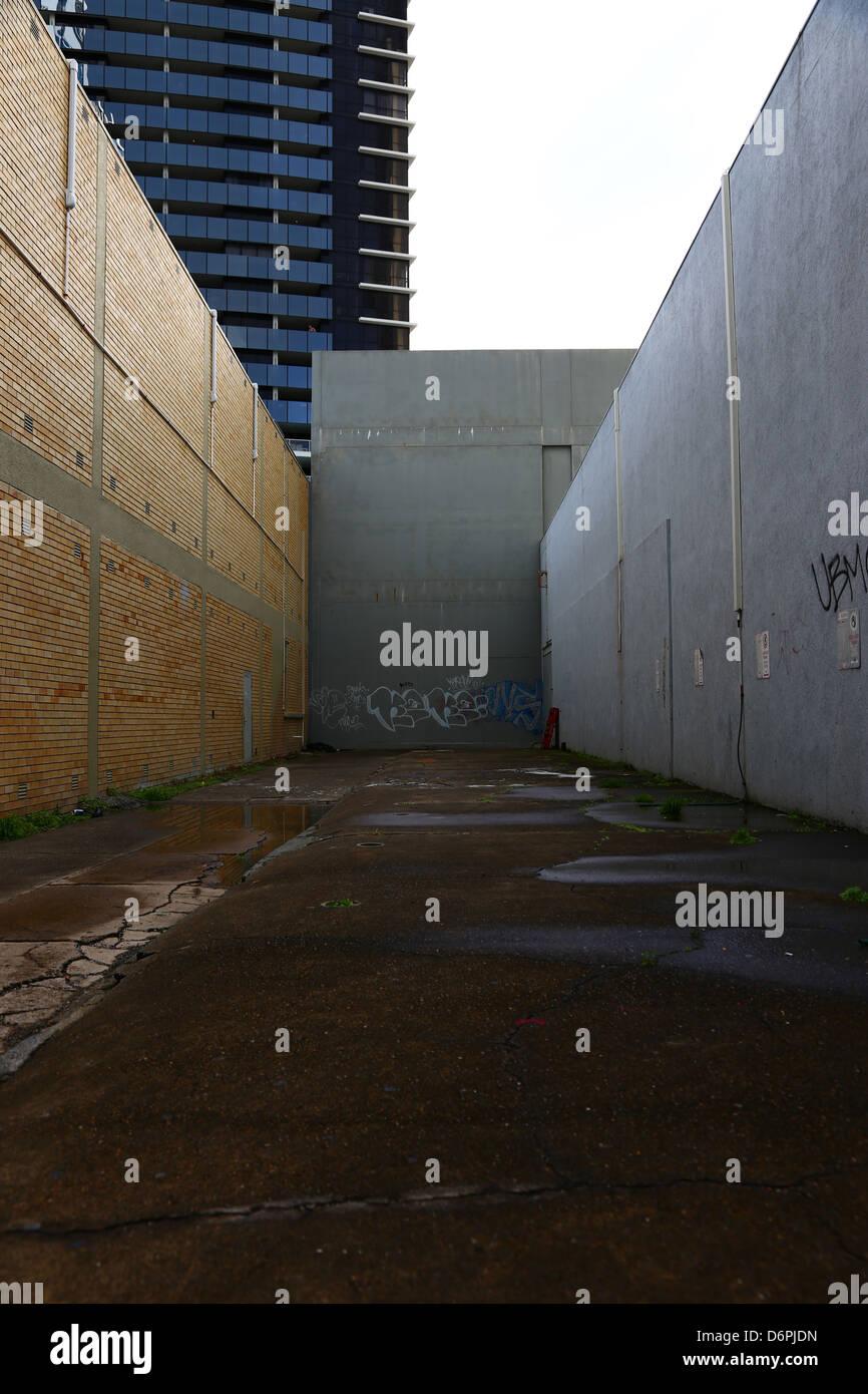 Empty Space of Street Corner in Gold Coast, Australia - Stock Image
