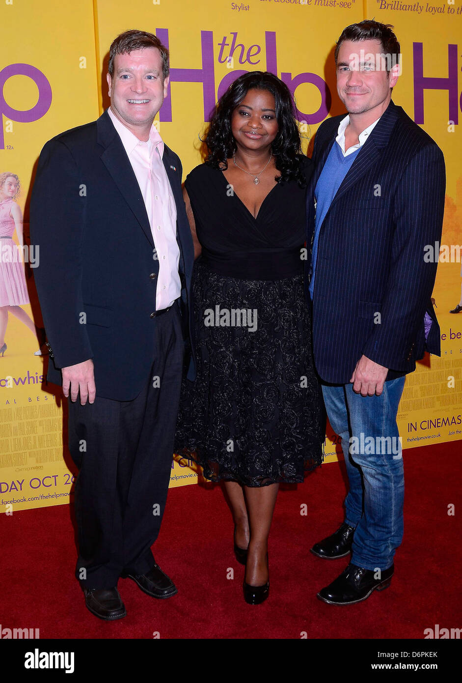 John Hennessey Nyland, Octavia Spencer, Tate Taylor Irish Premiere of 'The Help' at The Savoy Dublin, Ireland - Stock Image