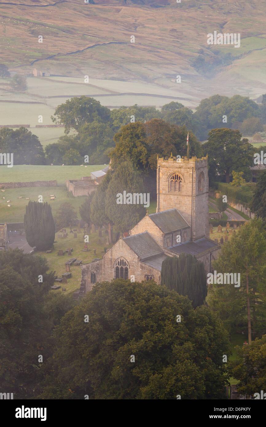 Church, Burnsall, Yorkshire Dales National Park, Yorkshire, England, United Kingdom, Europe - Stock Image