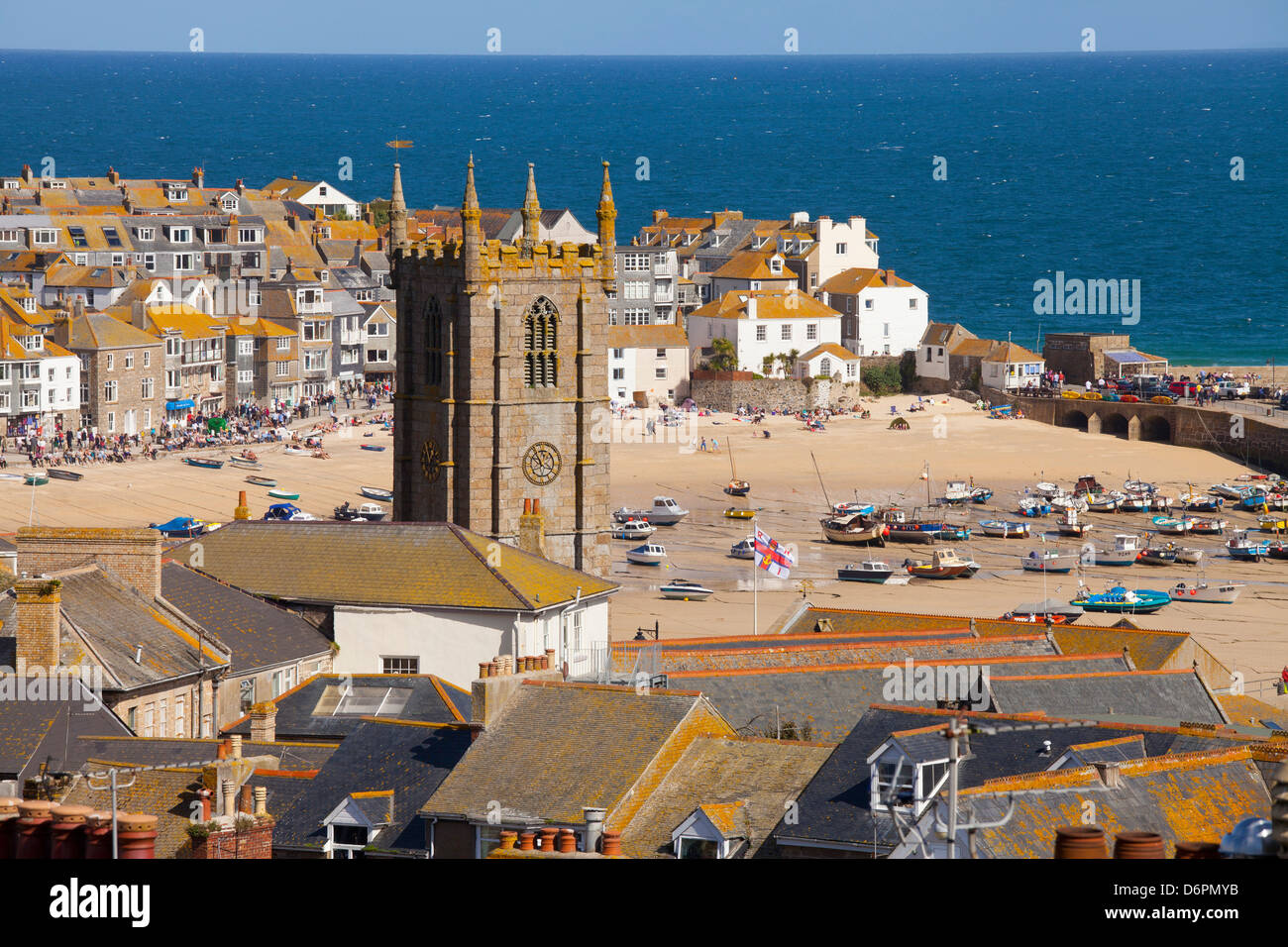 View over St. Ives, Cornwall, England, United Kingdom, Europe - Stock Image