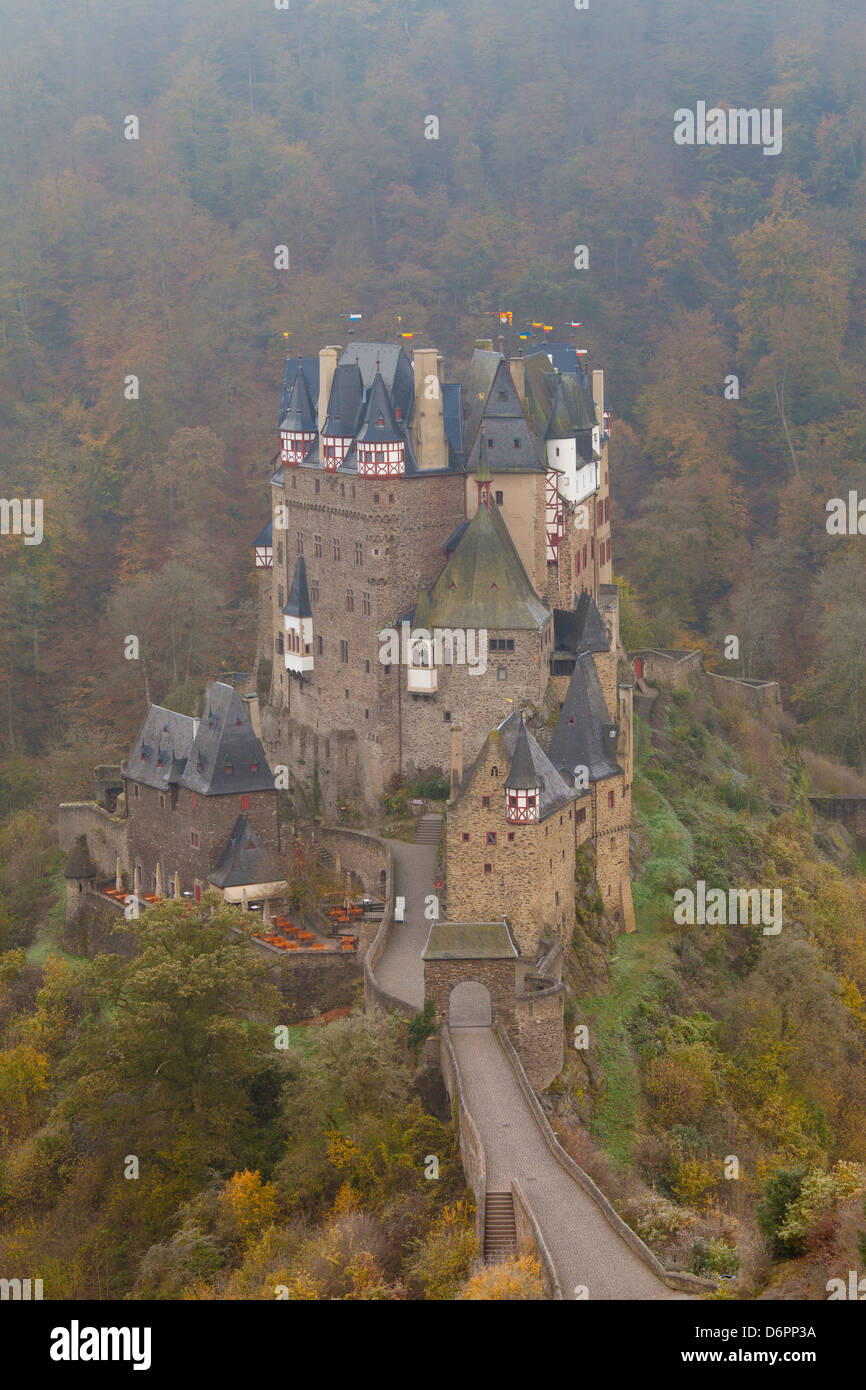 Eltz Castle in autumn, Rheinland-Pfalz, Germany, Europe - Stock Image