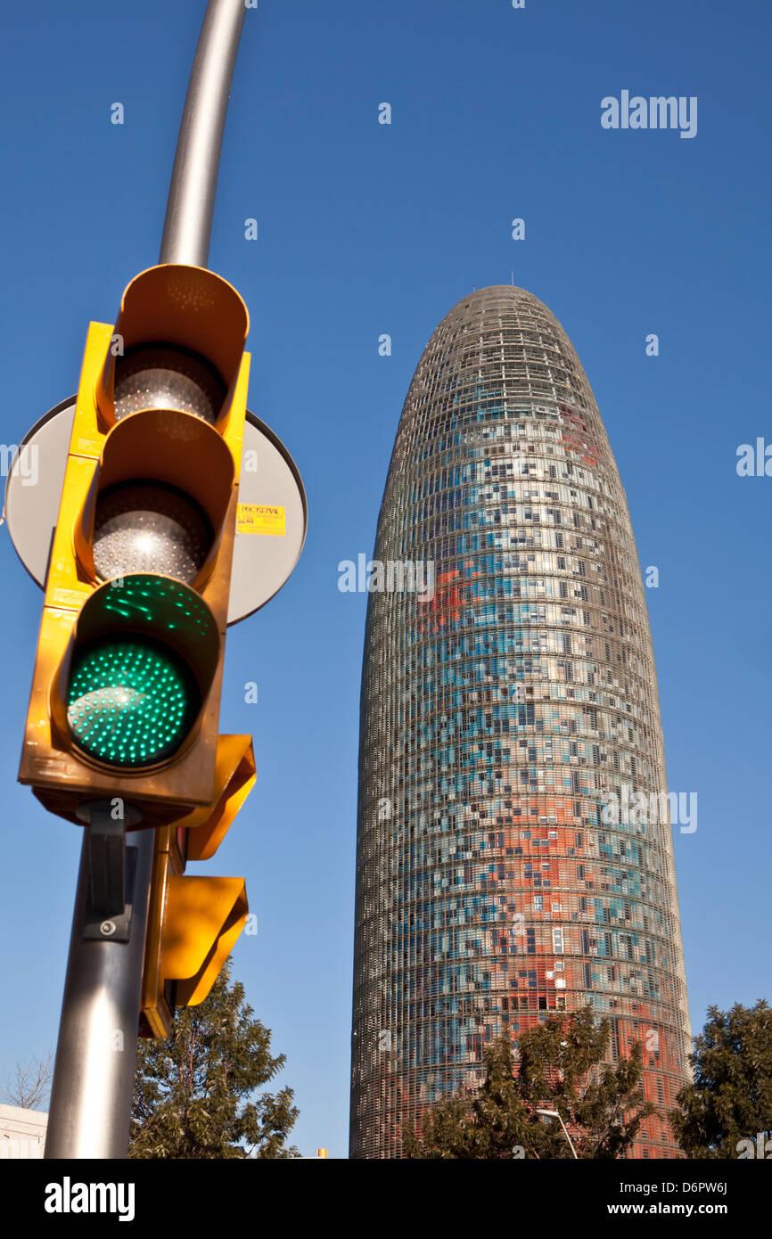 Agbar building, Barcelona, Spain Stock Photo