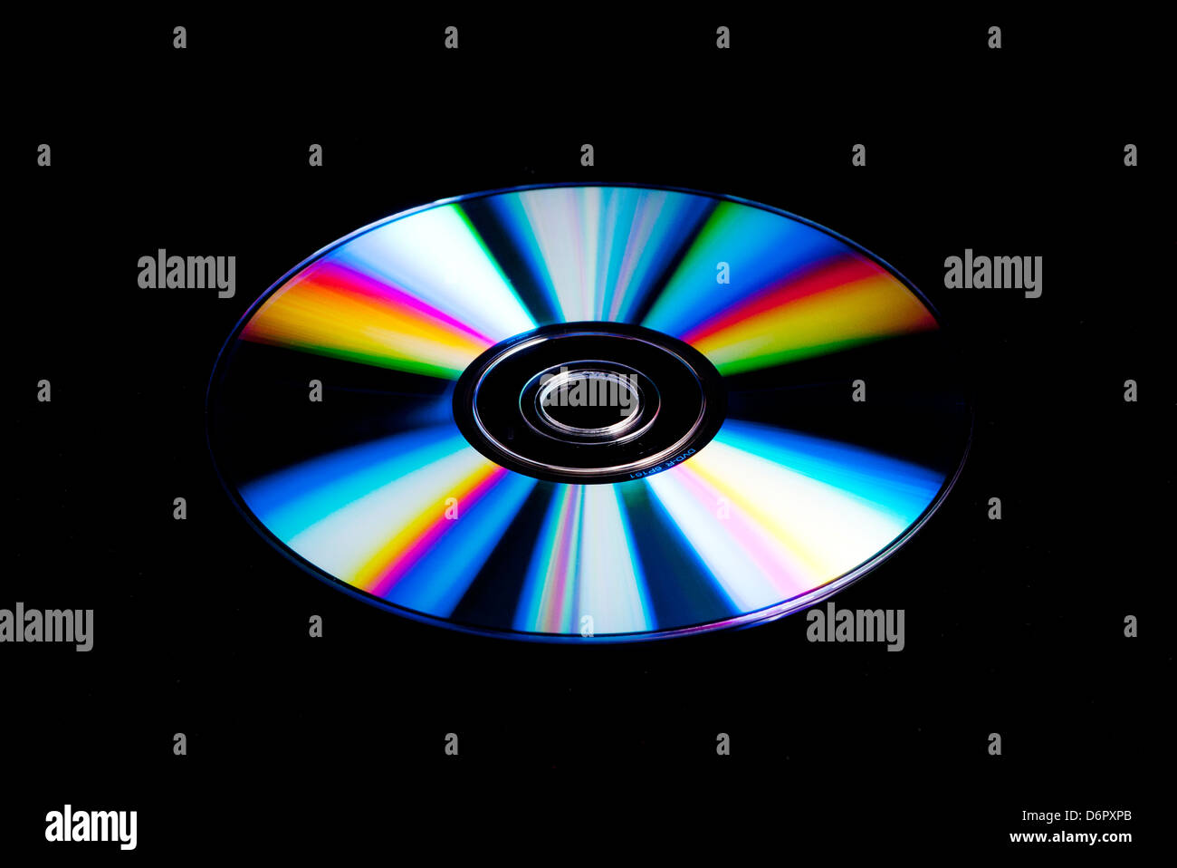 DVD, CD disk with rainbow colours - Stock Image