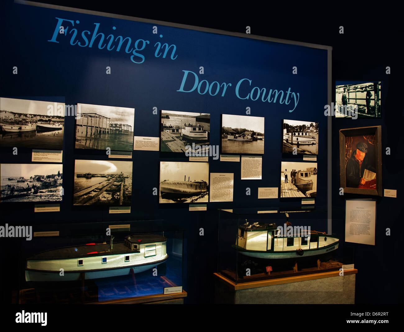 The Door County Maritime Museum in Gills Rock, Wisconsini - Stock Image