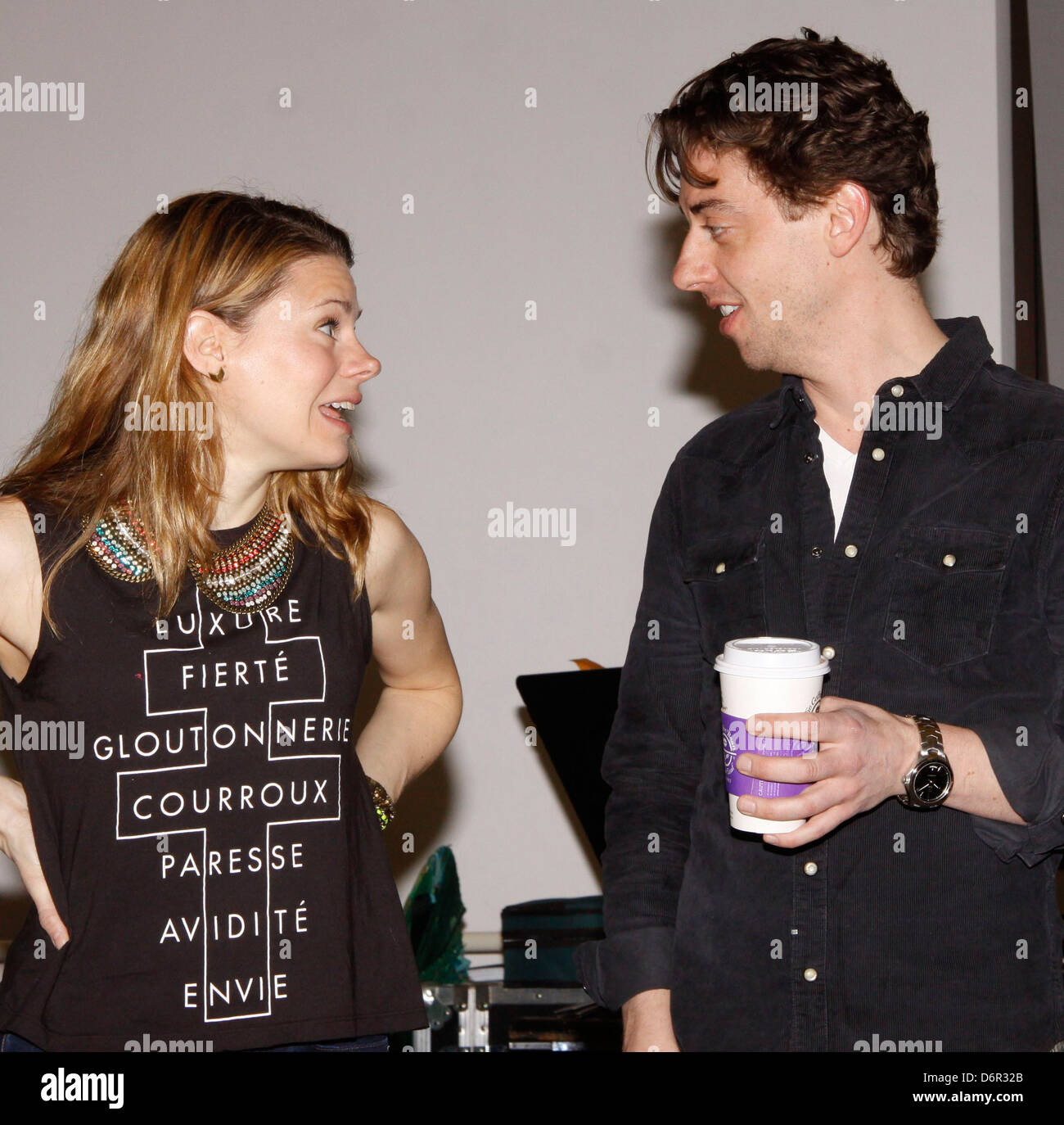 Celia Keenan-Bolger and Christian Borle Meet and greet with the cast and creative team of the Broadway show 'Peter - Stock Image