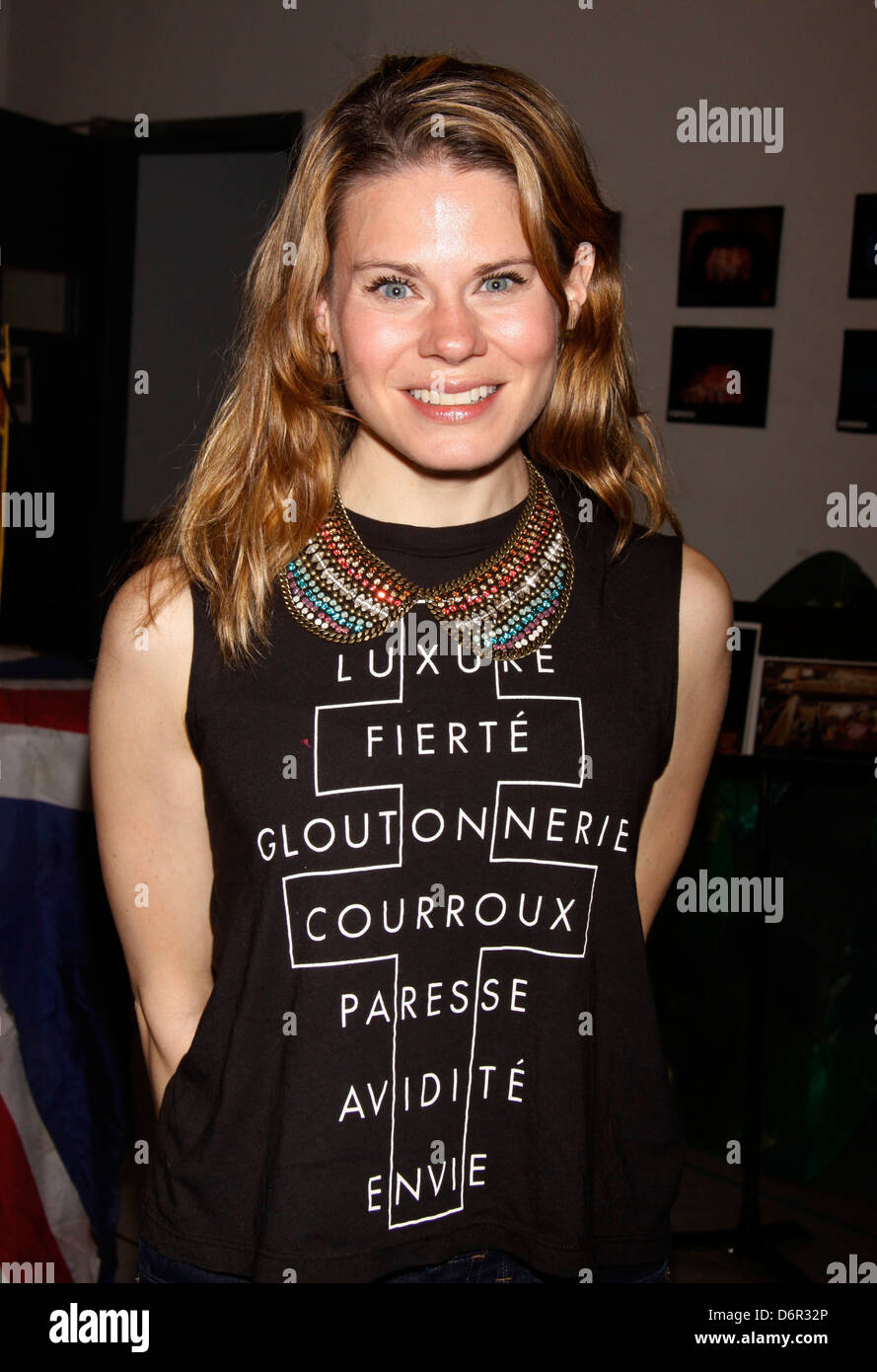 Celia Keenan-Bolger Meet and greet with the cast and creative team of the Broadway show 'Peter and the Starcatcher' - Stock Image