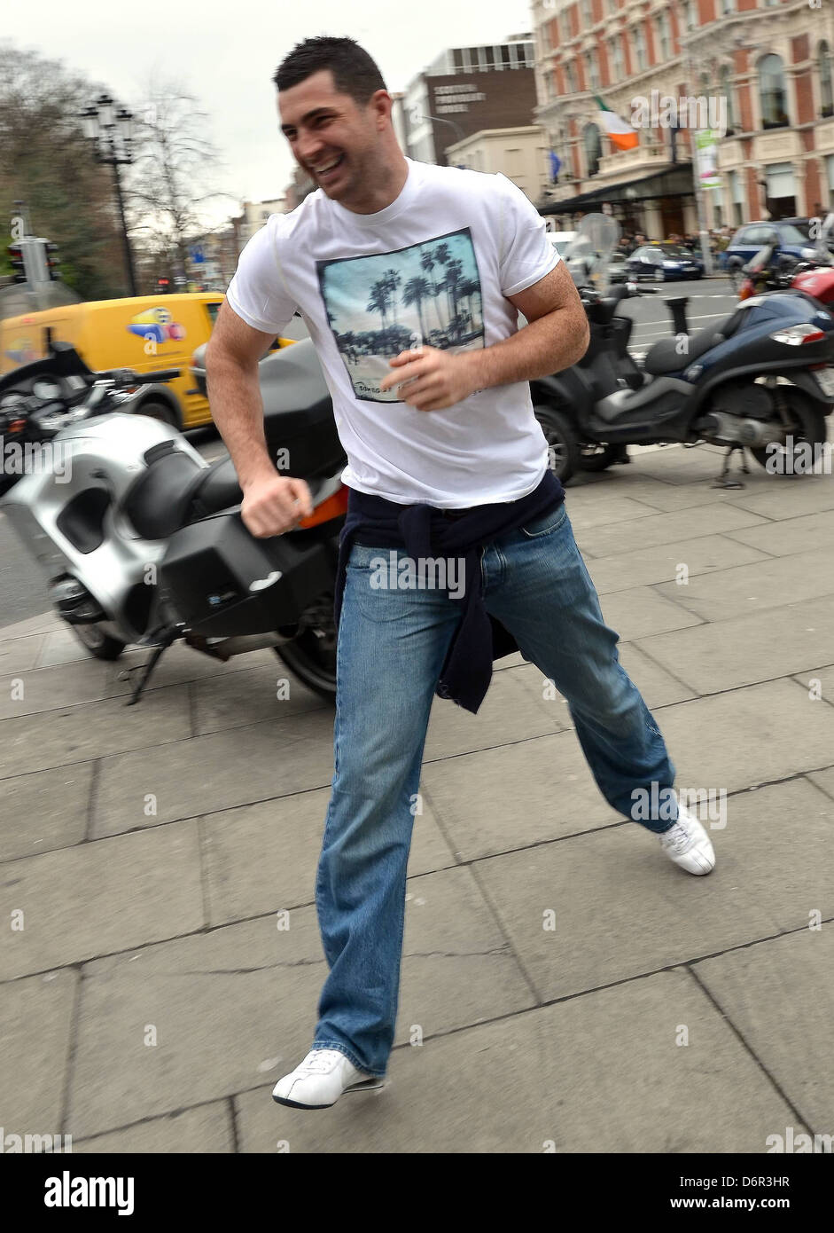 rob kearney irish rugby team players out and about ahead of the