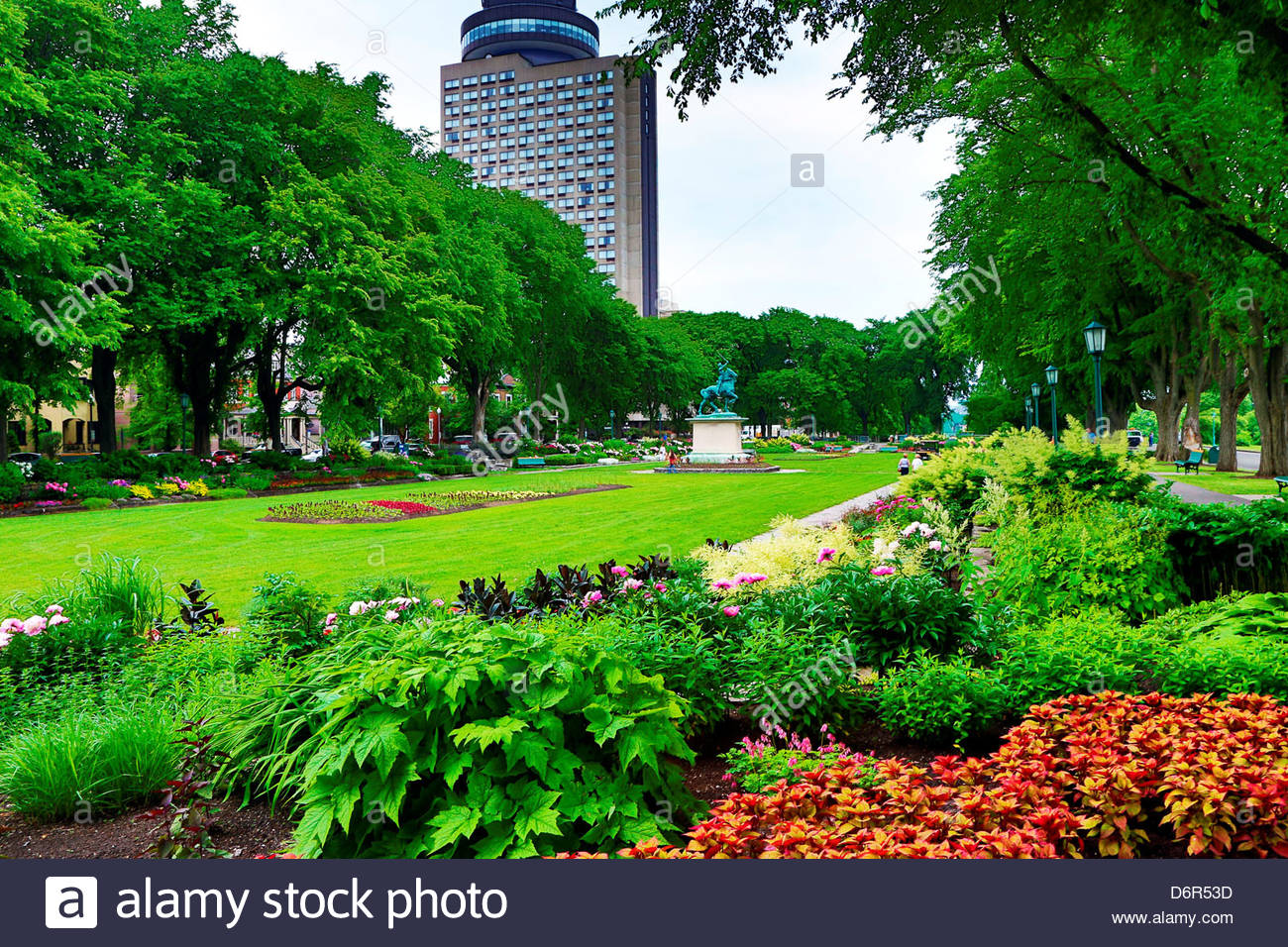View Of The Joan Of Arc Garden In Quebec City, Quebec, Canada   Stock
