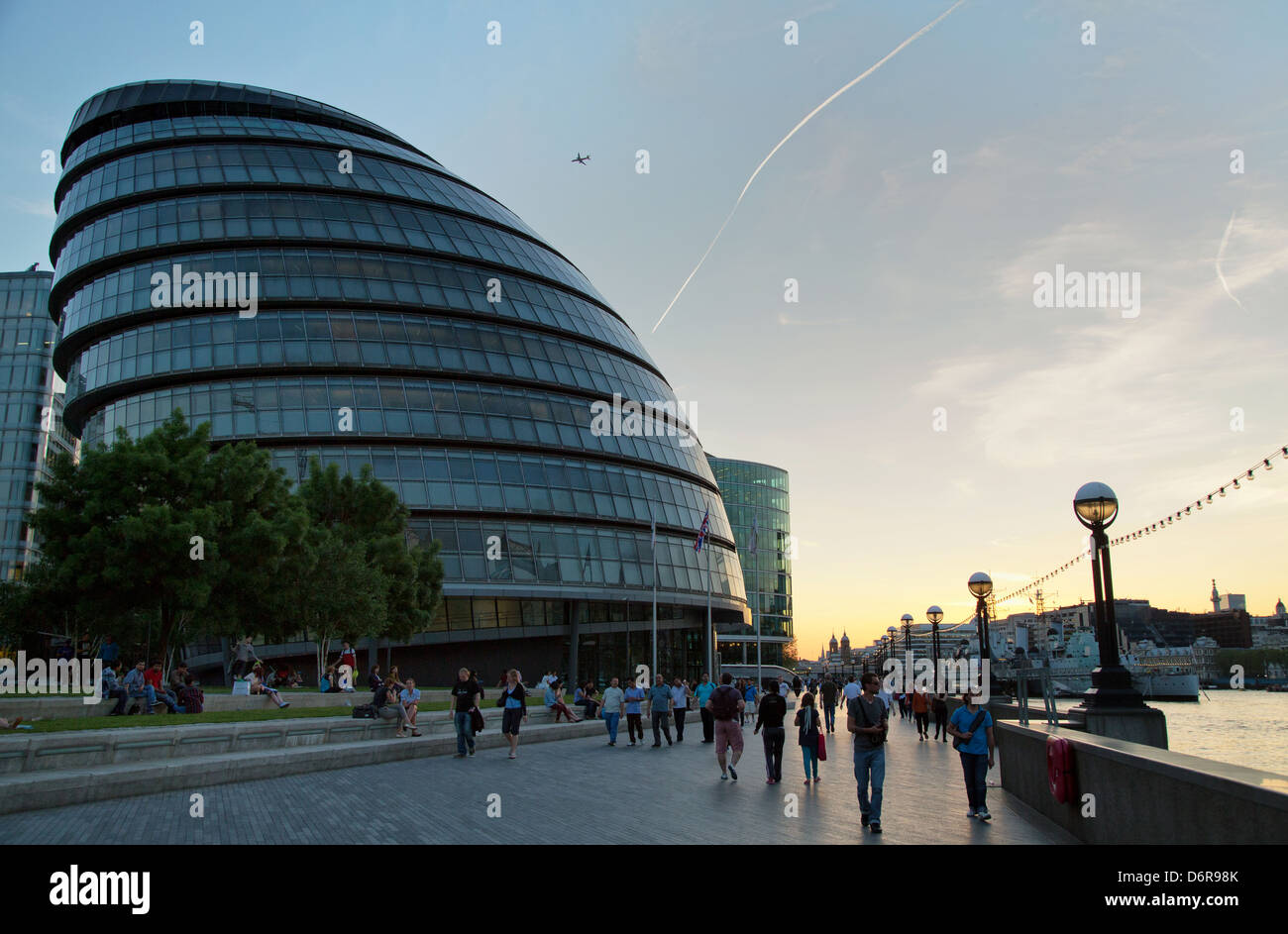 London, United Kingdom, City Hall, headquarters of the Greater London Authority and the Mayor of London - Stock Image