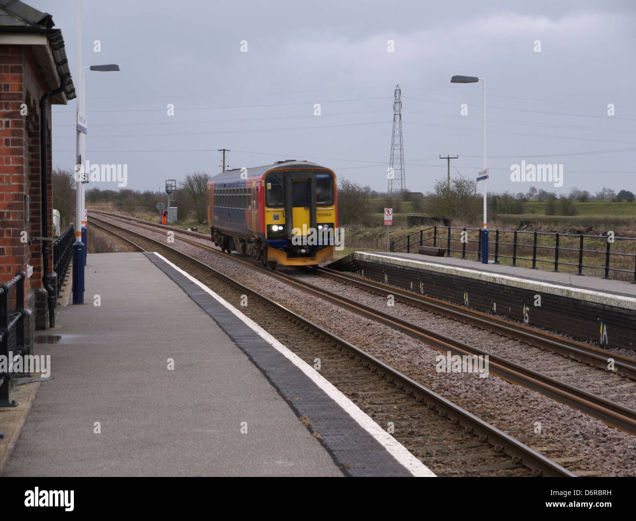 DMU at Skegness railway station January 2011 - Stock Image