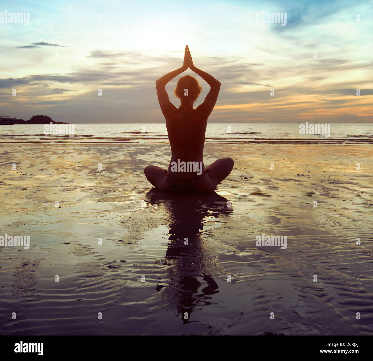 stress and meditation - Stock Image