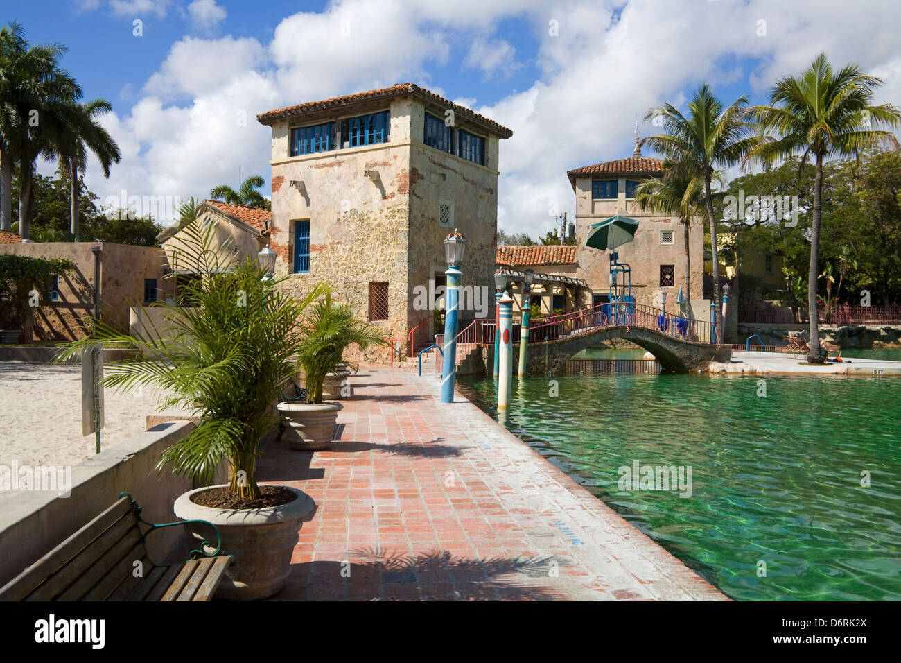 Venetian Pool, Coral Gables, Miami, Florida, USA - Stock Image