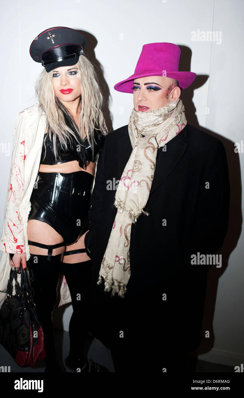 boy george and lady lloyd london fashion week a/w 2011 - pam hogg