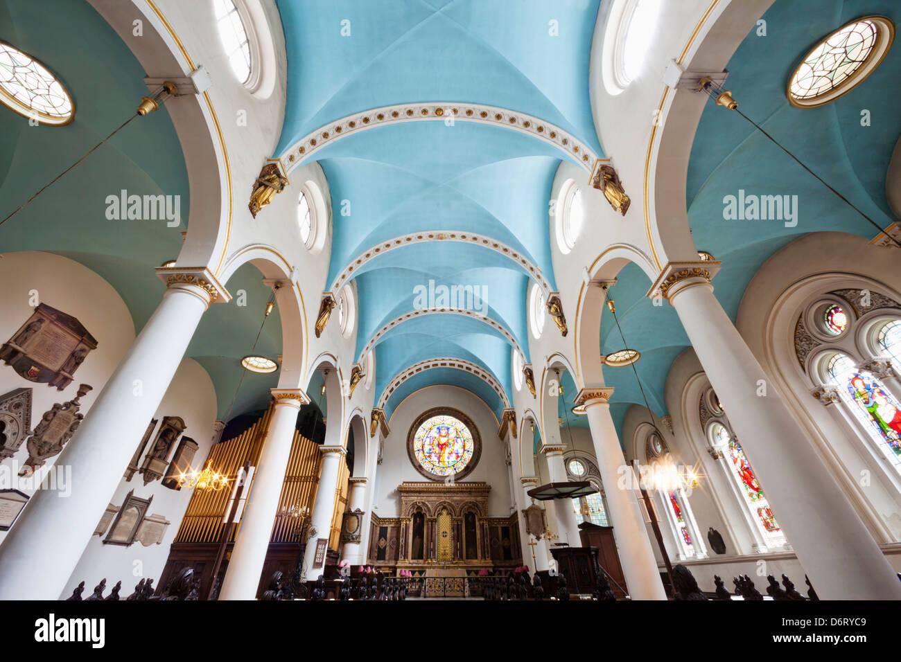 England,London,The City,St.Michael Cornhill Church - Stock Image